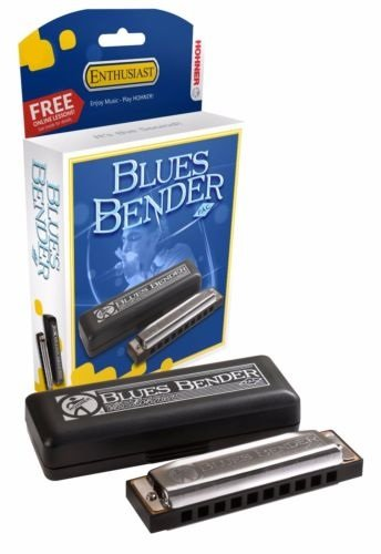 New Hohner Blues Bender Diatonic Harmonica Key of Bb
