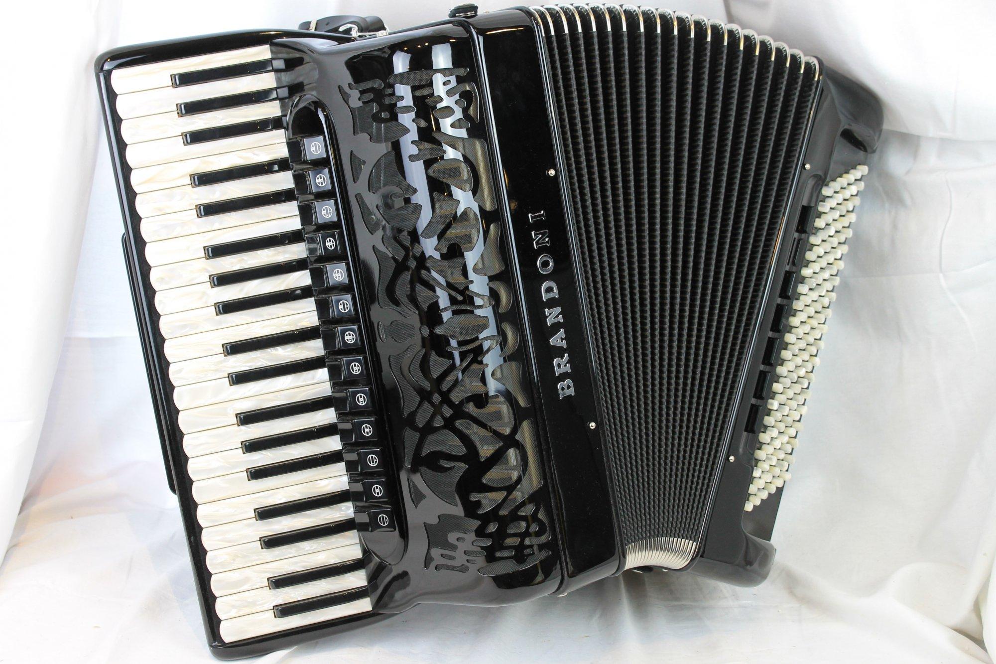 NEW Black Brandoni 148LI Piano Accordion LMMH 120
