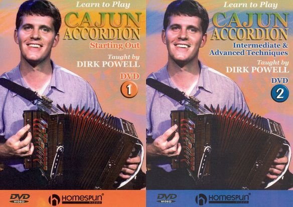Learn to Play Cajun Accordion DVD 1 and 2 Package