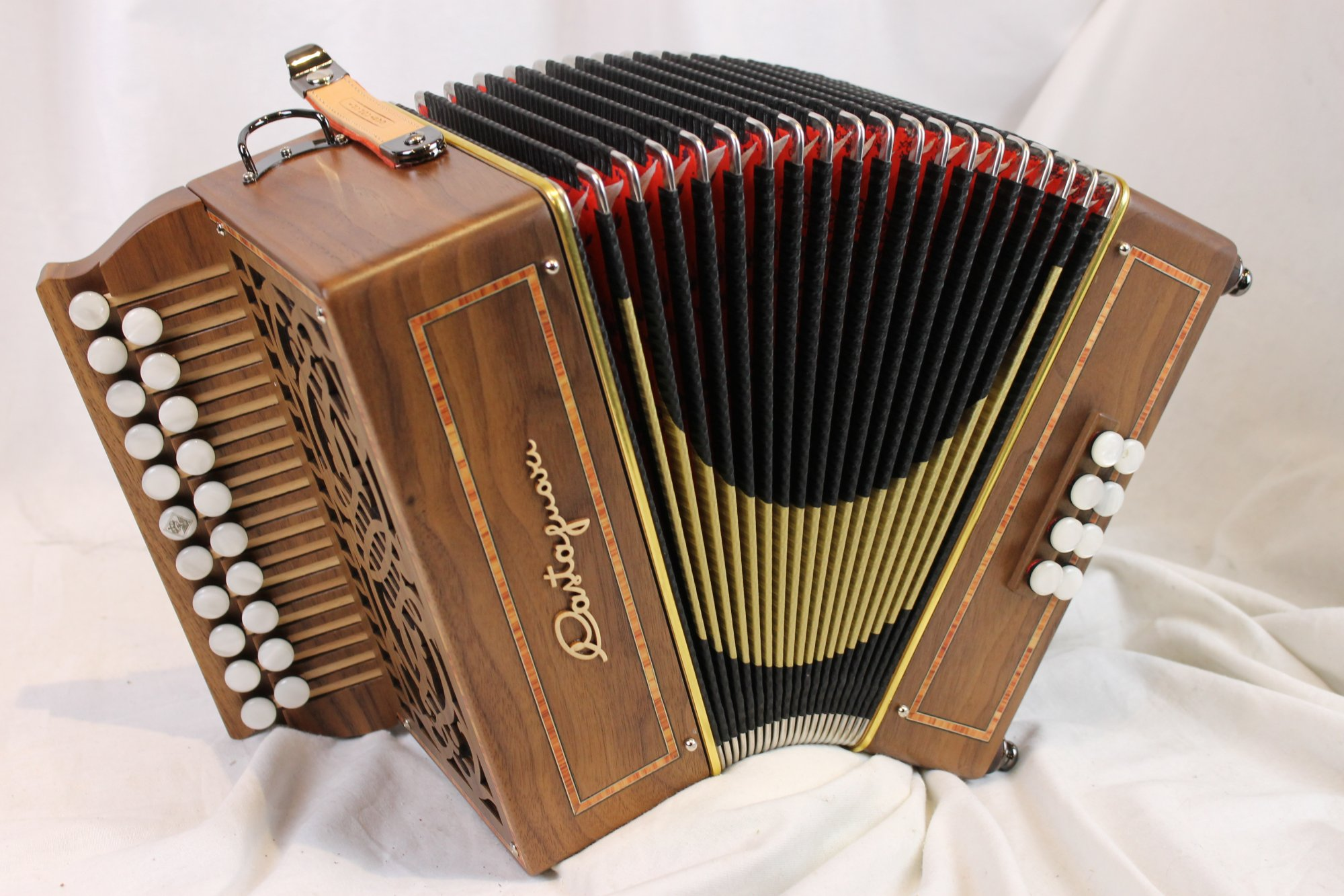 NEW Walnut Castagnari Roma Diatonic Button Accordion GC MM 21 8