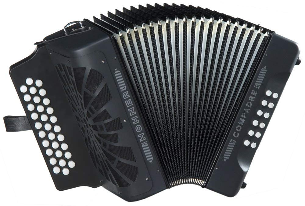 NEW Black Hohner Compadre Diatonic Button Accordion FBbEb Fa MM 31 12