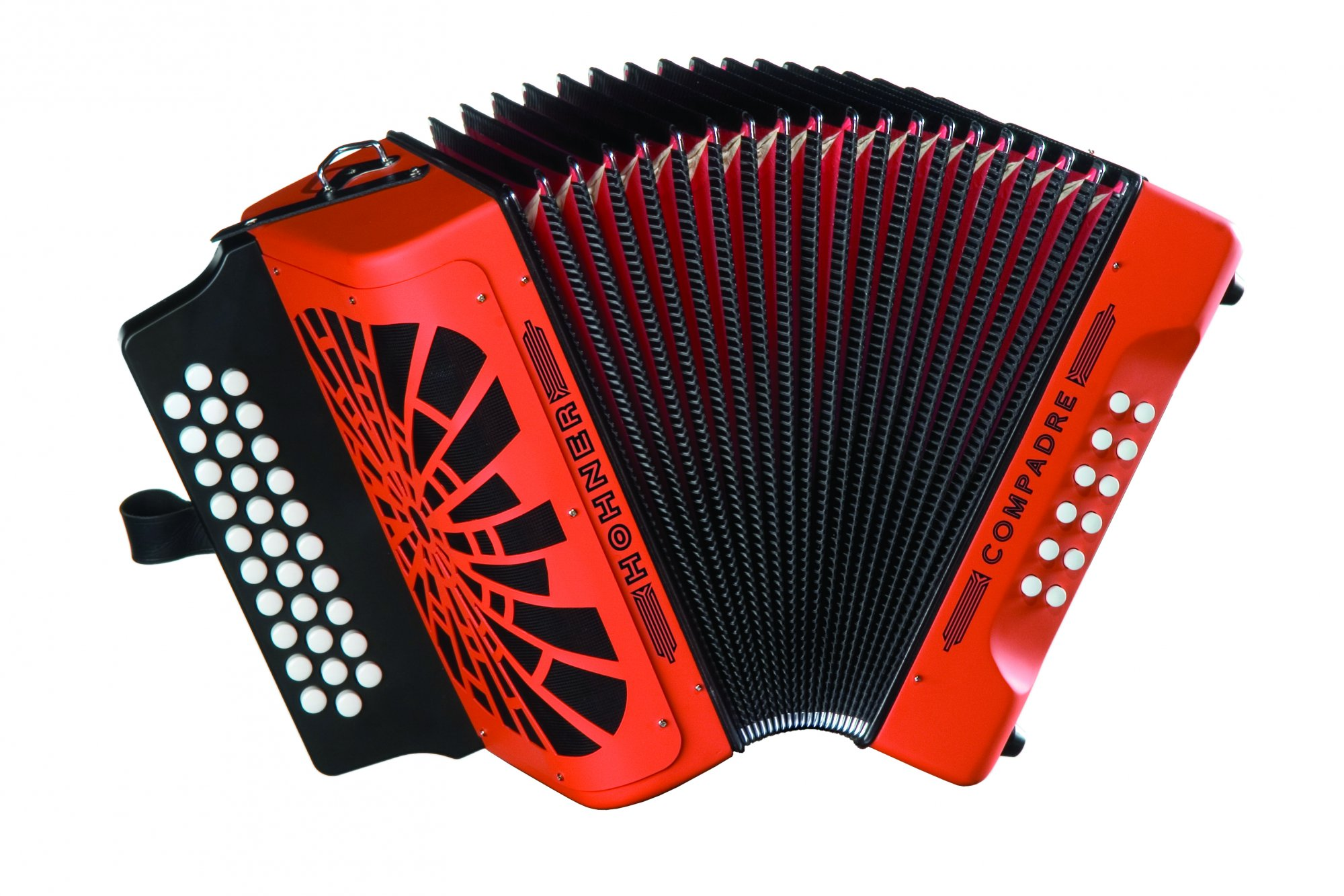 NEW Orange Hohner Compadre Diatonic Button Accordion GCF 31 12