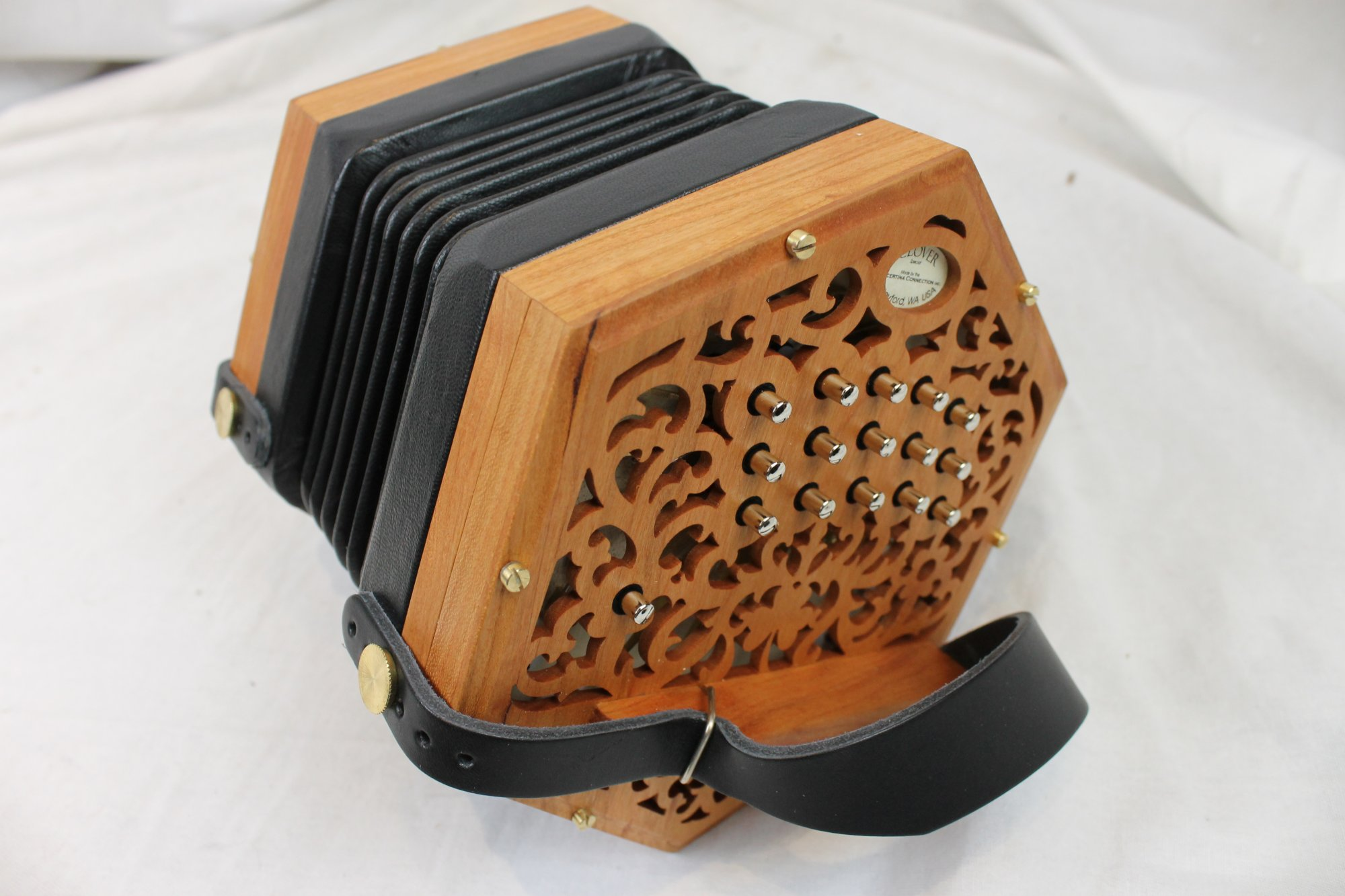 New Cherry Concertina Connection Clover Anglo Concertina CG 30