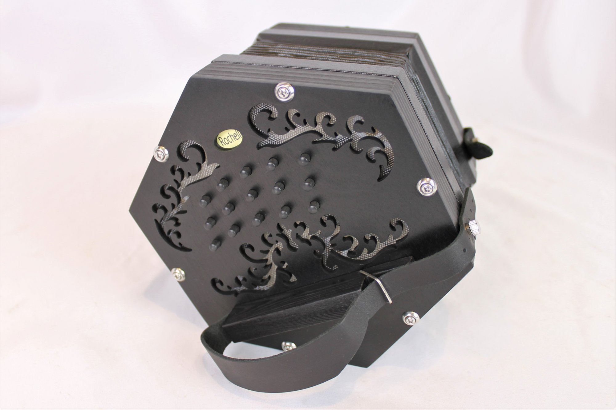 NEW Black Concertina Connection Rochelle-2 Anglo CG M 30