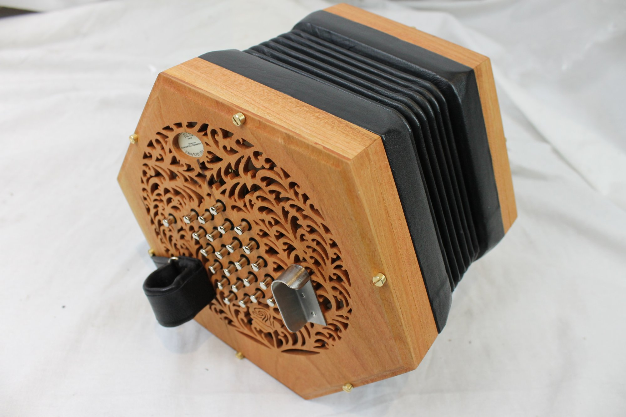 NEW Cherry Concertina Connection Rose English Concertina 45 Button Treble  G3-A6