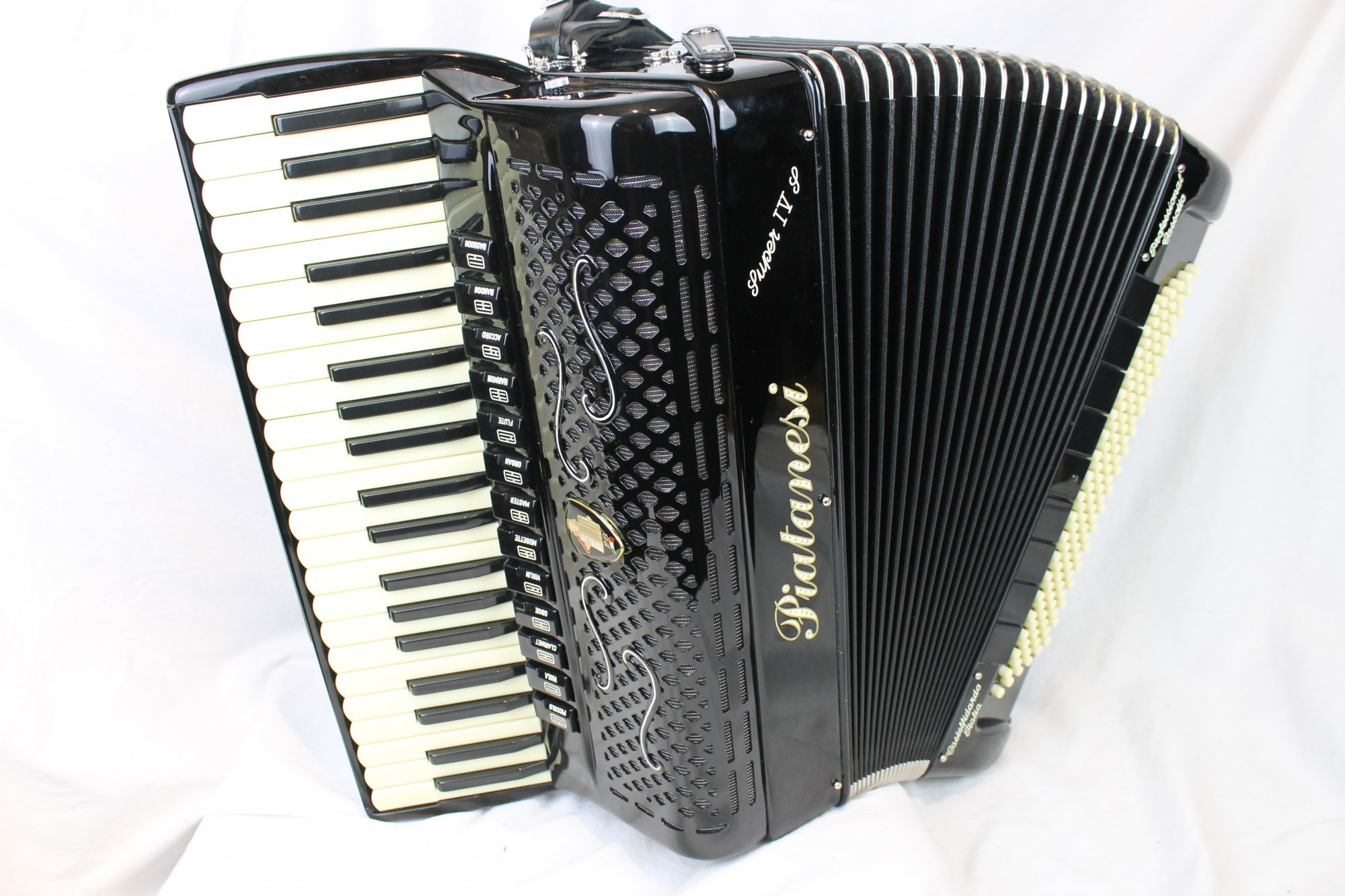 NEW Black Piatanesi Super IV S Piano Accordion LMMM or LMMH 41 120