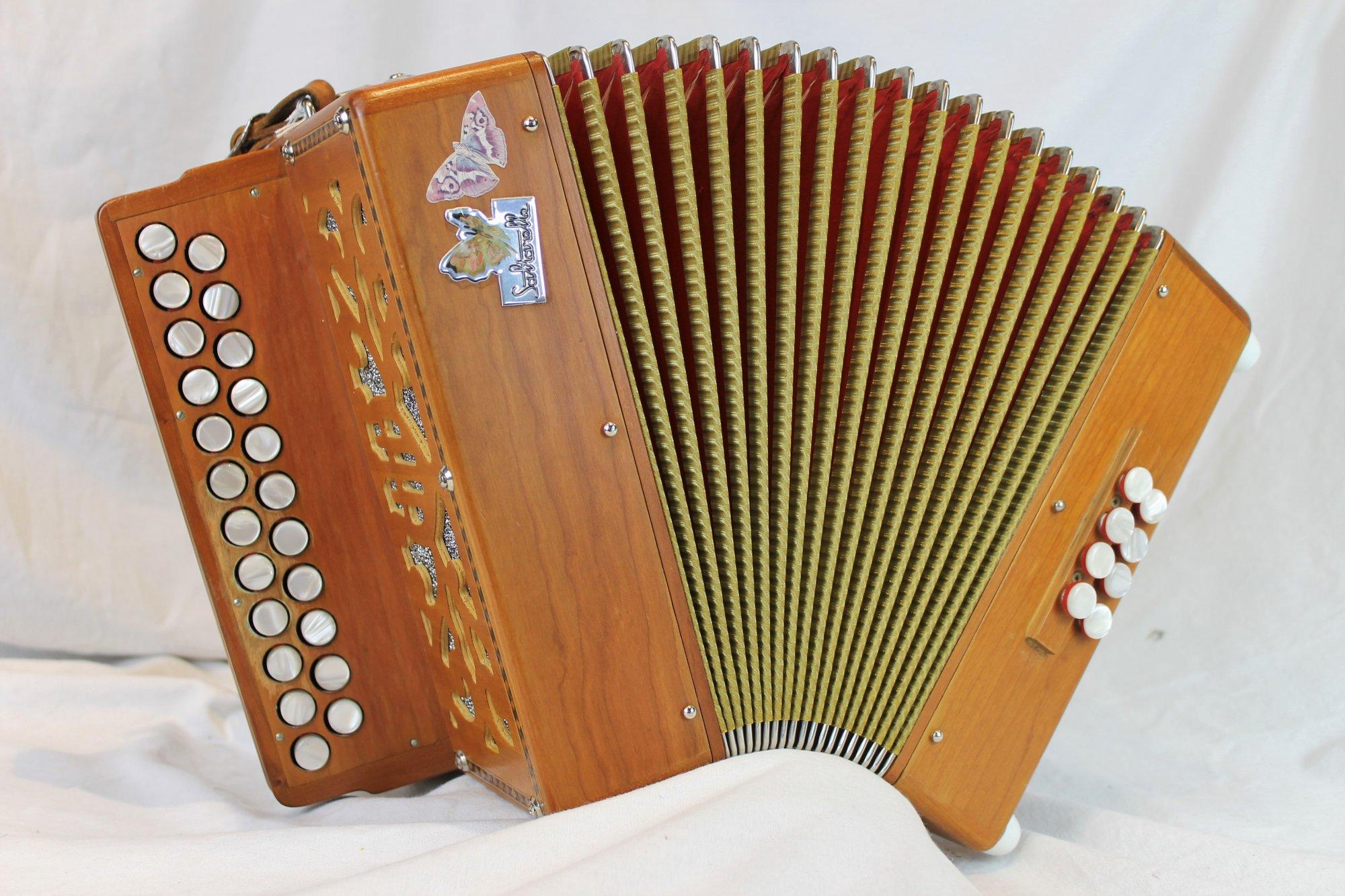 4893 - Cherry Saltarelle Irish Bouebe Diatonic Button Accordion BC 21 8