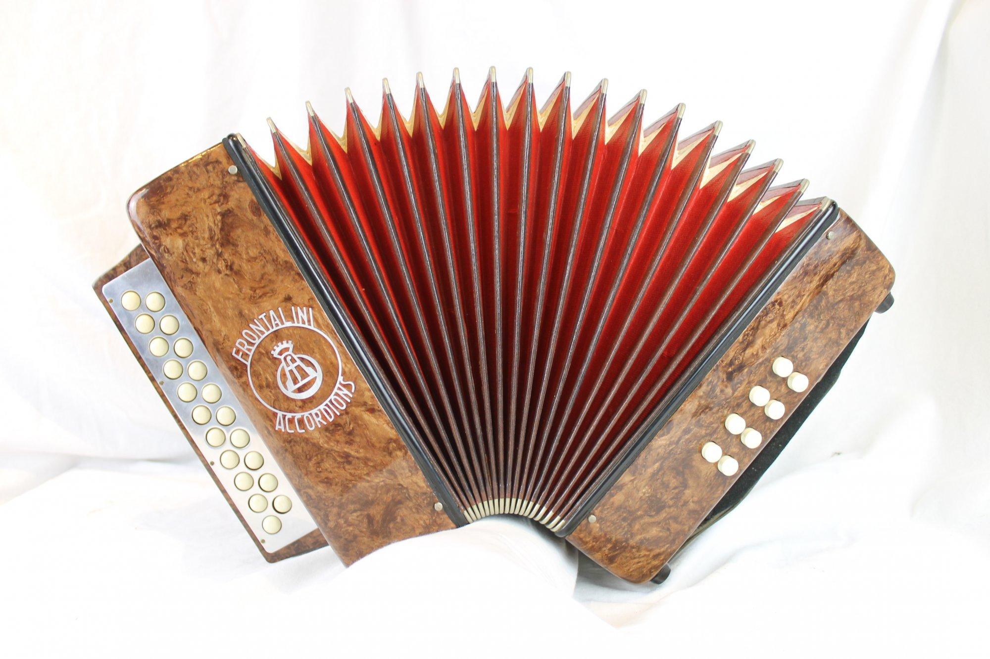 4894 - Brown Frontalini Diatonic Button Accordion BC MM 21 8