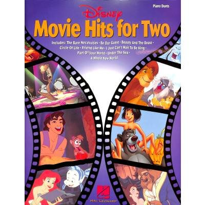Disney Movie Hits for Two: Lower-intermediate Level Piano Duets