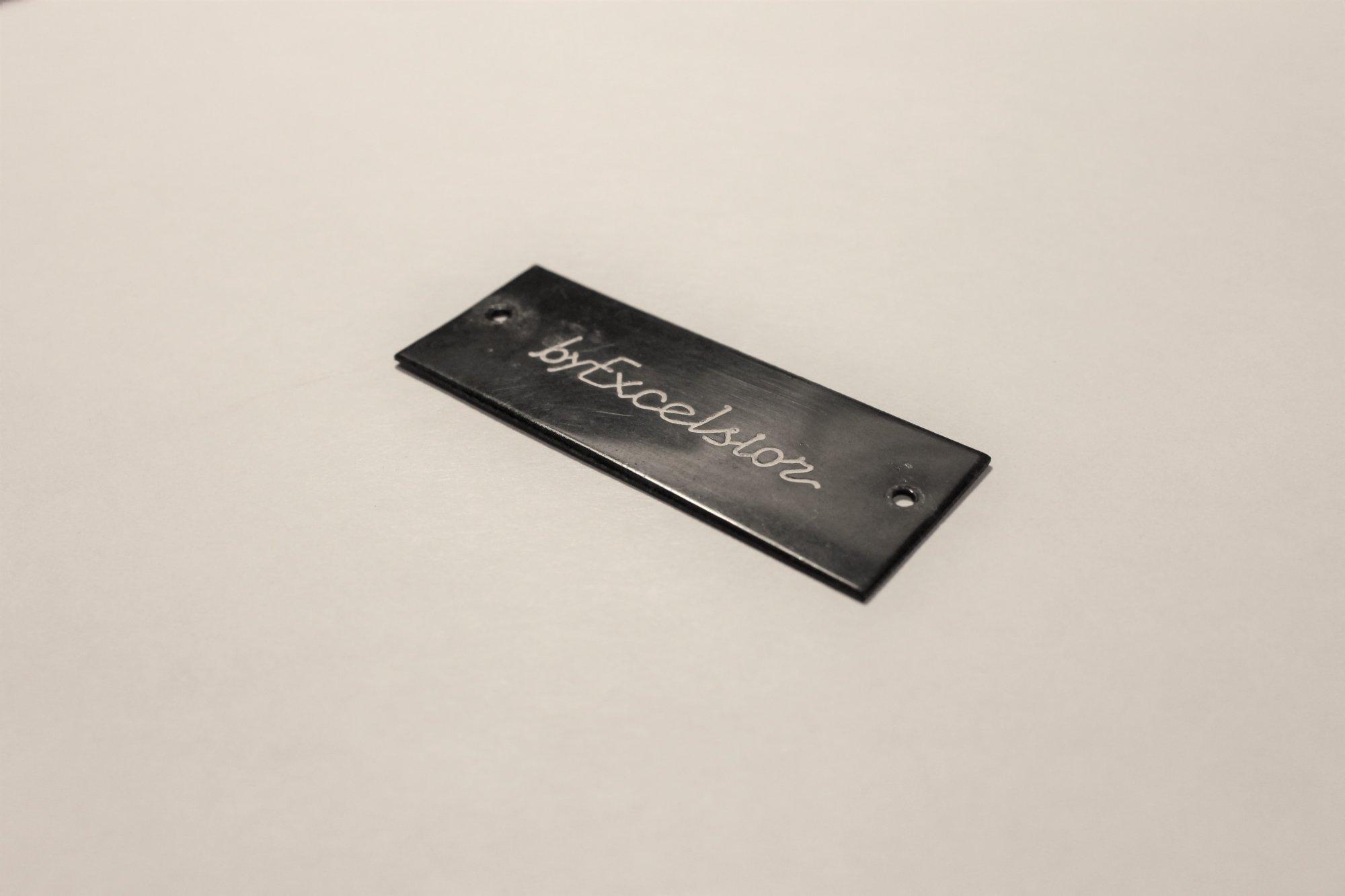 Accordion Part - by Excelsior Black Horizontal Logo Emblem