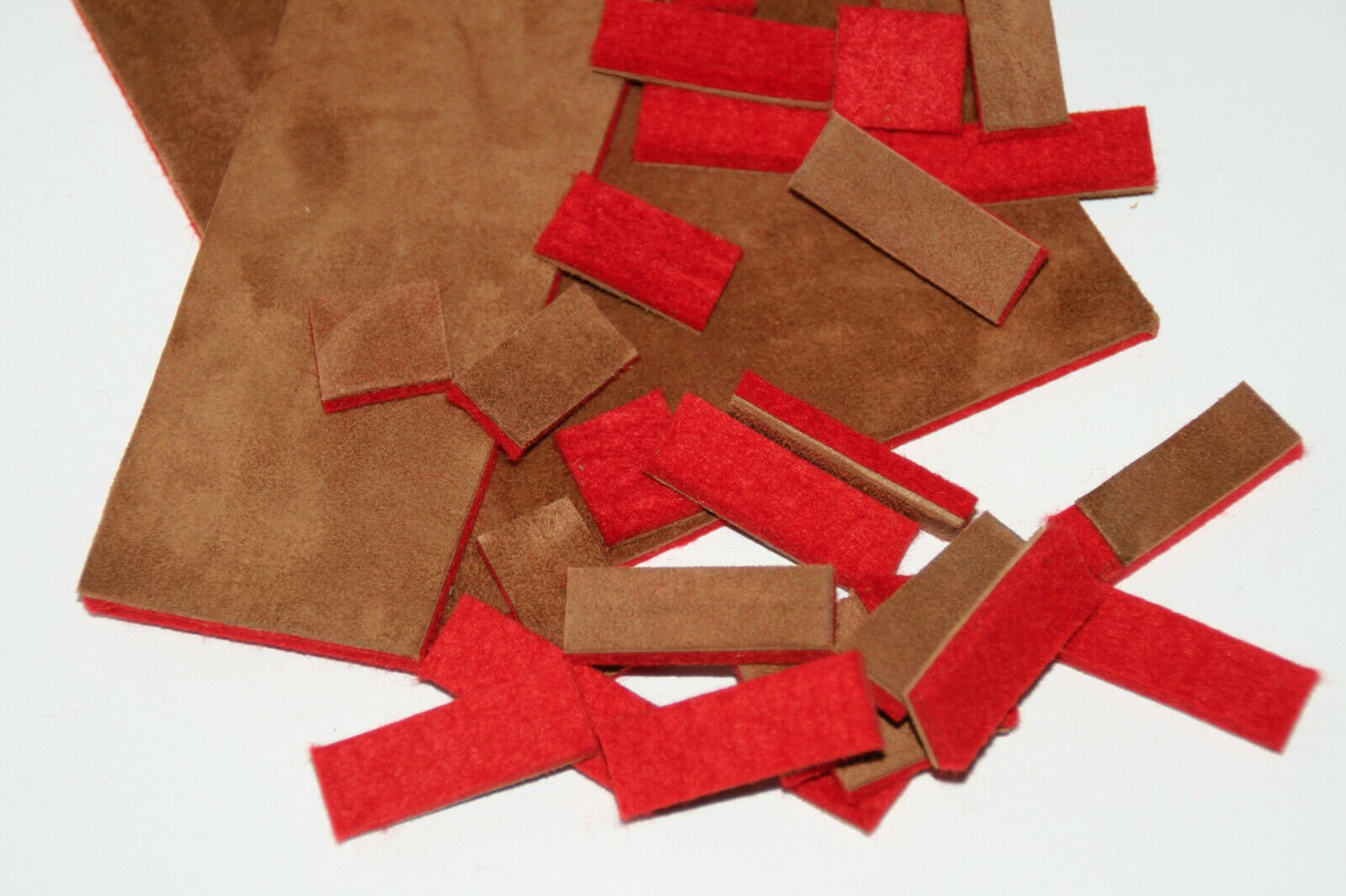 New Accordion Part - Combination Pad Material 6x3 (5cm x 7.5cm)  Felt (2mm) and Suede (1mm)