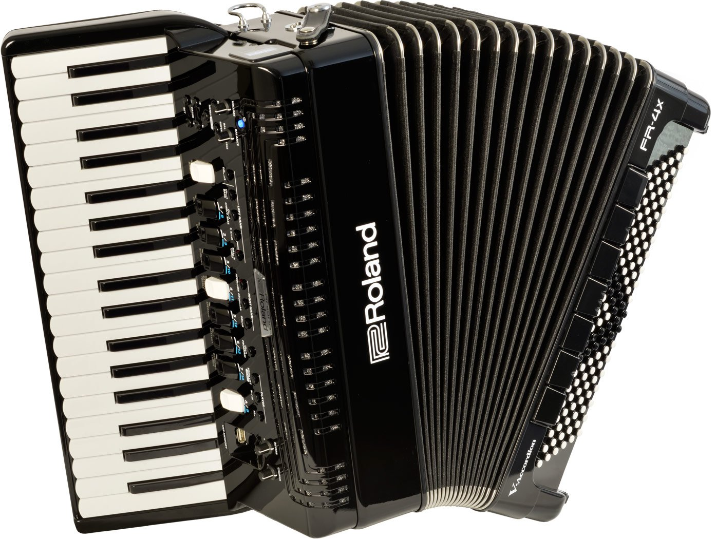 NEW Black Roland FR-4X-BK Piano Accordion 37 120