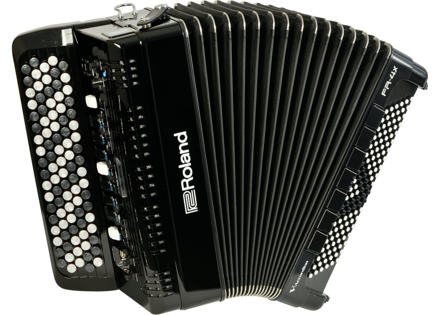 NEW Black Roland FR-4XB-BK Digital Chromatic Button Accordion 92 120