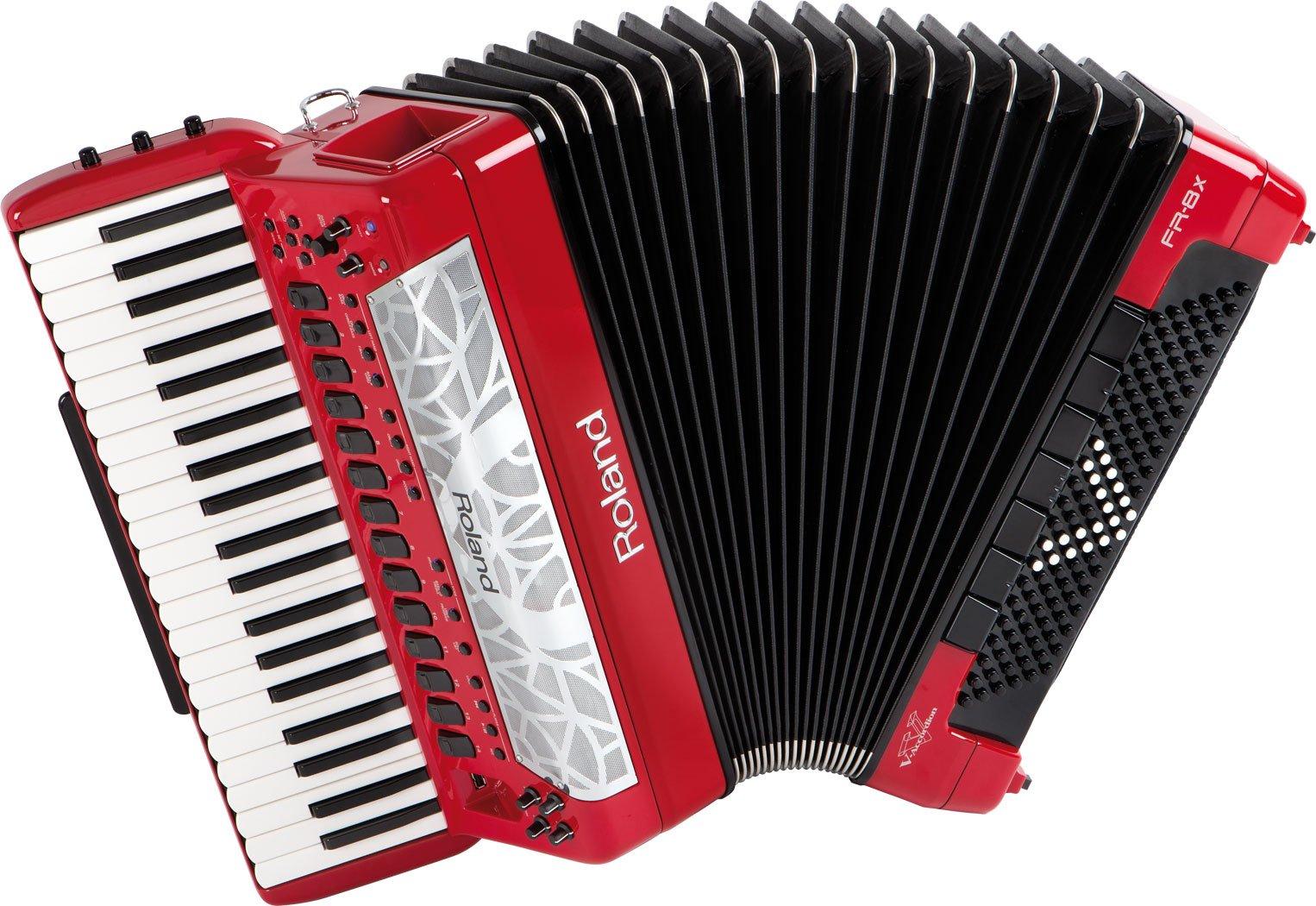 NEW Red Roland FR-8X-RD Digital Piano Accordion 41 120