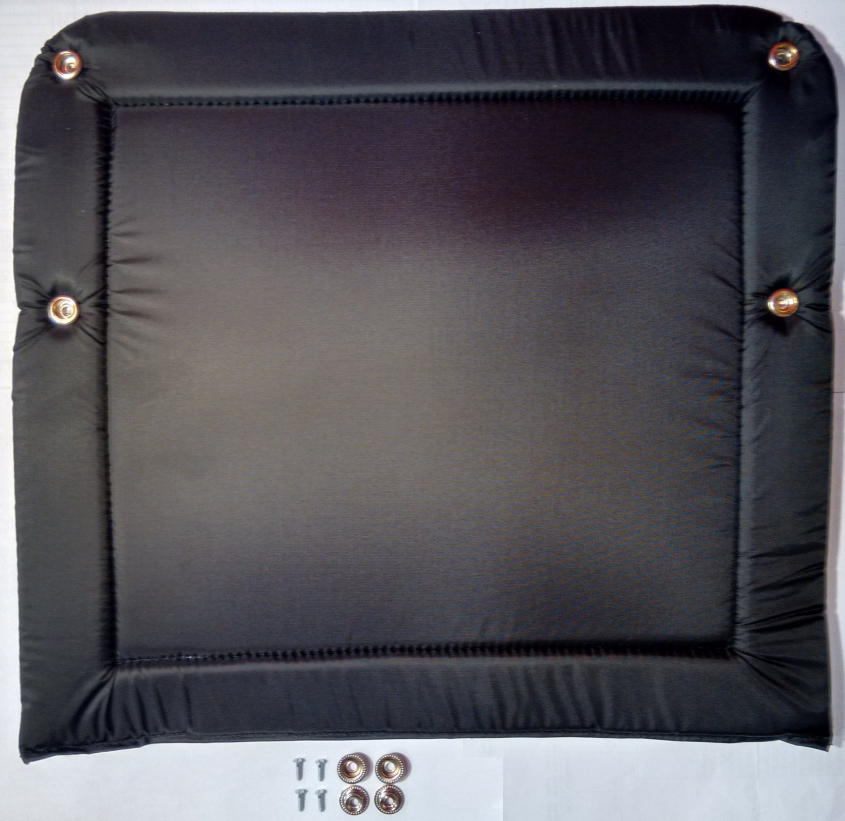 NEW Black Accordion Back Pad Width (15.5in/39cm) Length (12.5in/32cm)