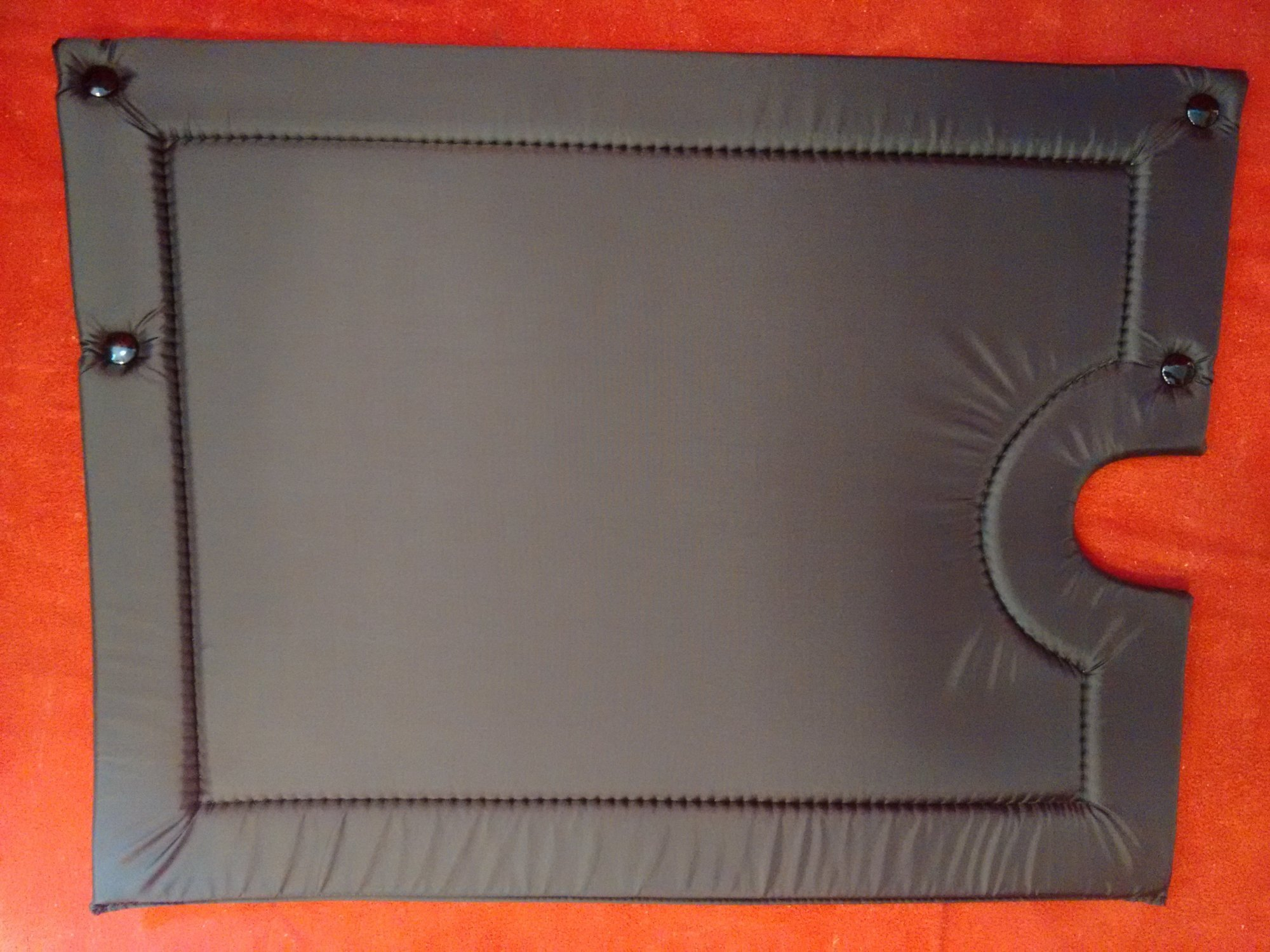 NEW Black Cutout Accordion Back Pad Width (39cm / 15in) Length (30cm / 11.5in)