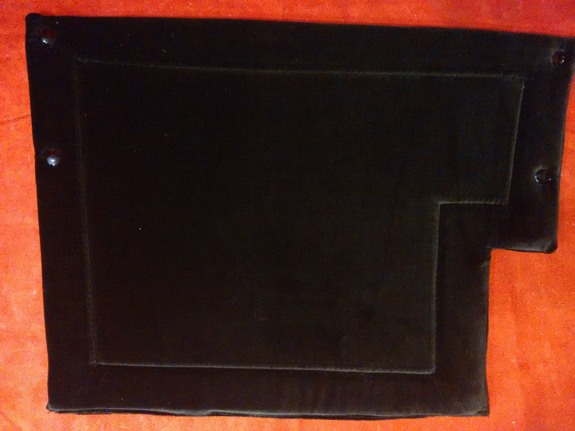 NEW Black Shaped Accordion Back Pad Width (39cm / 15in) Length (30cm / 11in)