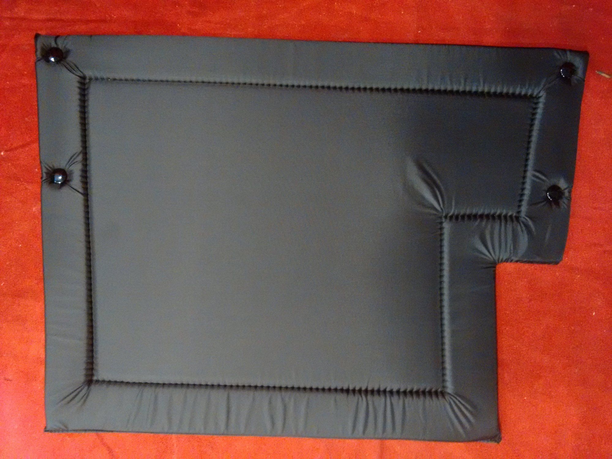NEW Black Shaped Accordion Back Pad Width (33cm / 13in) Length (29cm / 11.5in)