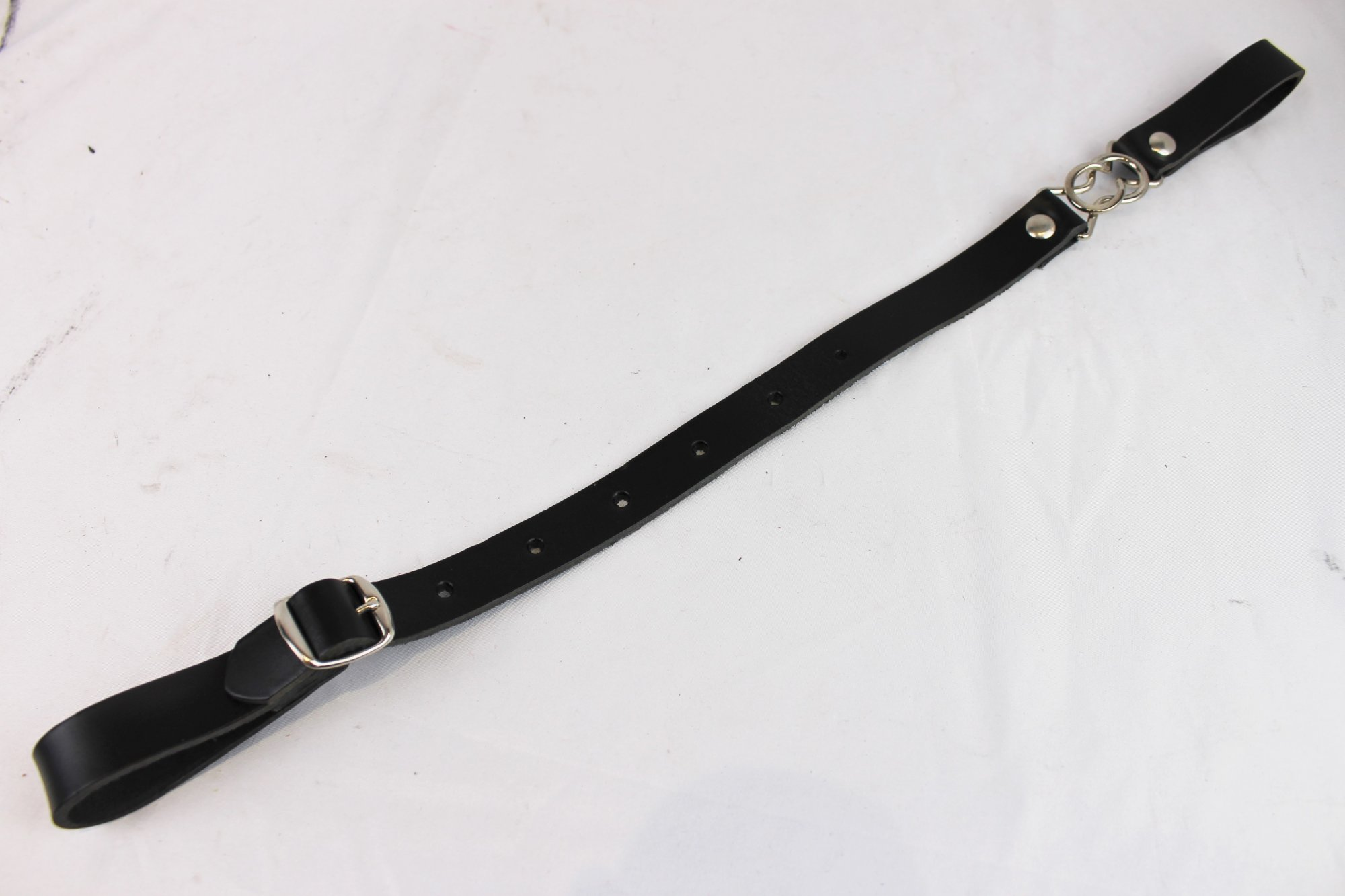 NEW Black Fuselli Leather Back Strap  - Adjustable 12.5 to 18