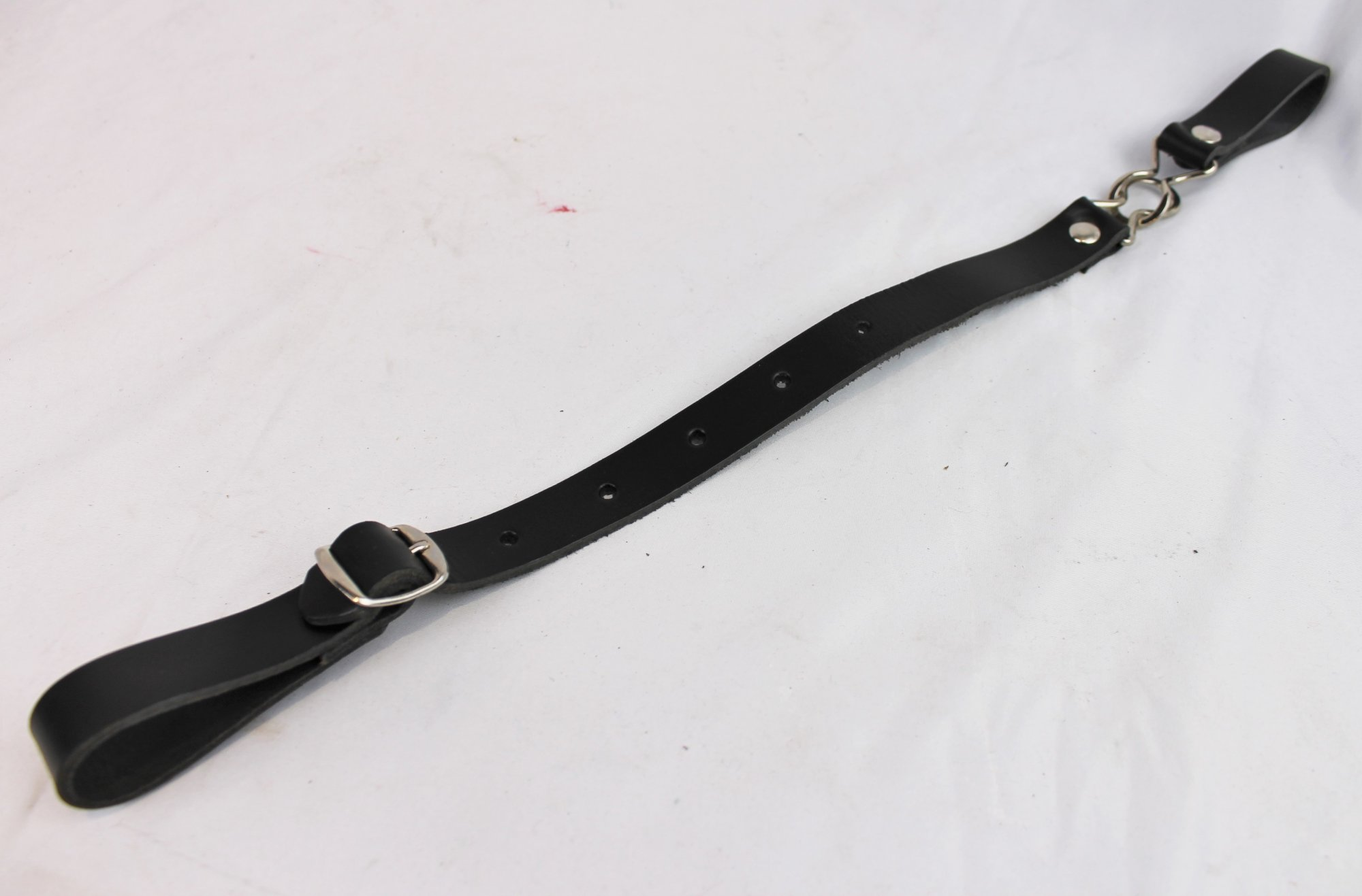 NEW Black Fuselli Leather Back Strap  - Adjustable 13 to 19.5
