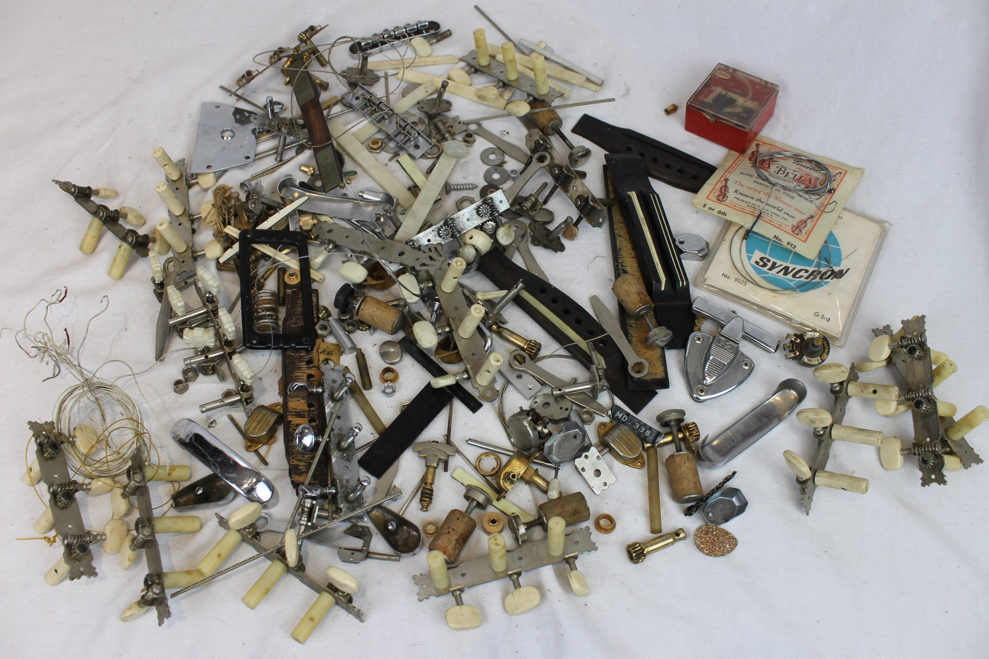 6lb Lot of Vintage Instrument (Mostly Guitar) Parts ~ 3kg
