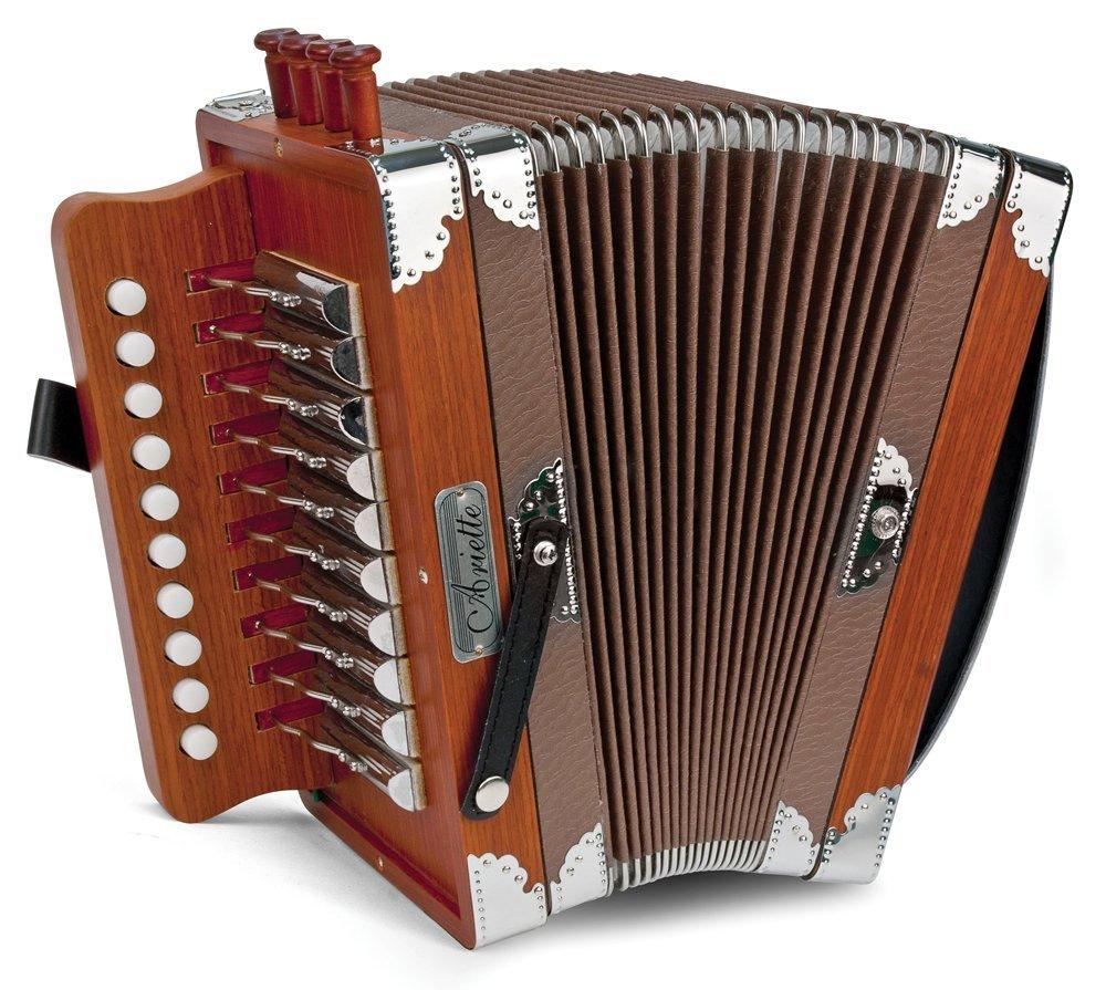 Like New Wood Hohner Ariette Diatonic Button Accordion LMMH 10 2