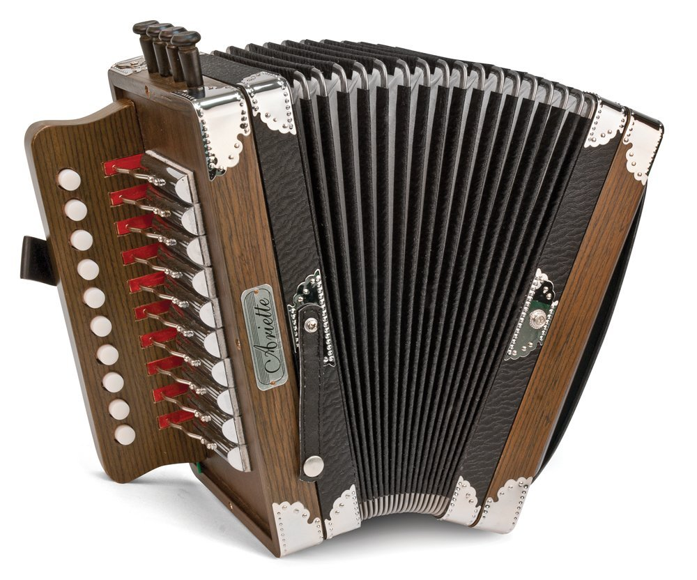 Like New Dark Brown Hohner Ariette Diatonic Button Accordion LMMH 10 2