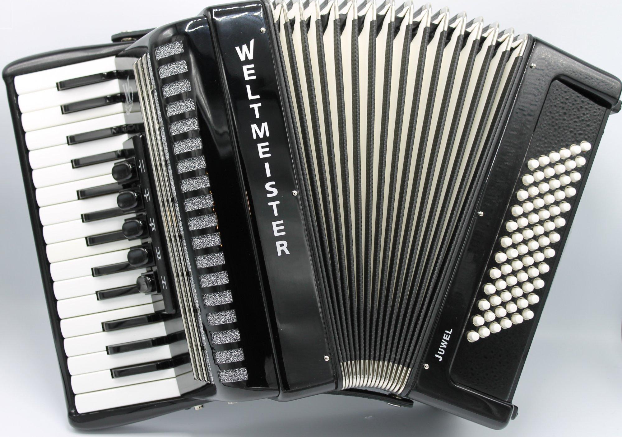 NEW Black Weltmeister Juwel Piano Accordion LMM 30 72
