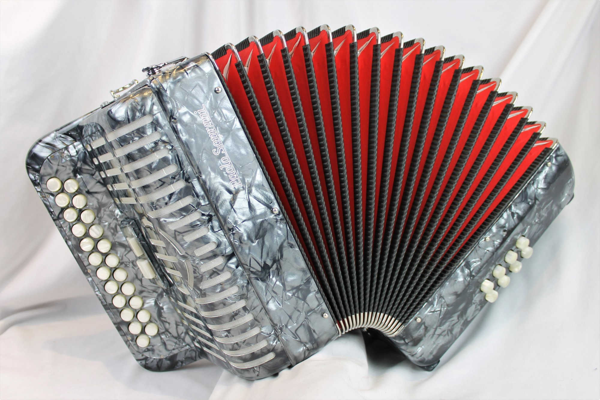 NEW Gray Paolo Soprani Jubilee IV Diatonic Button Accordion BC LMMM 23 8