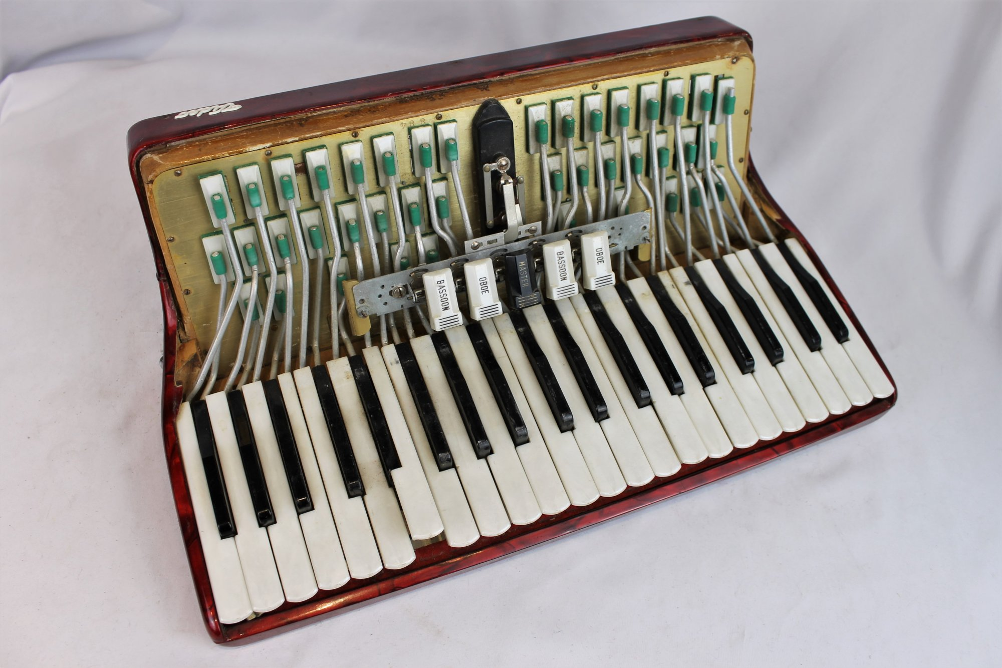 Crucianelli Video Accordion Part - Red Treble Section 18.33 x 9 x 6.9