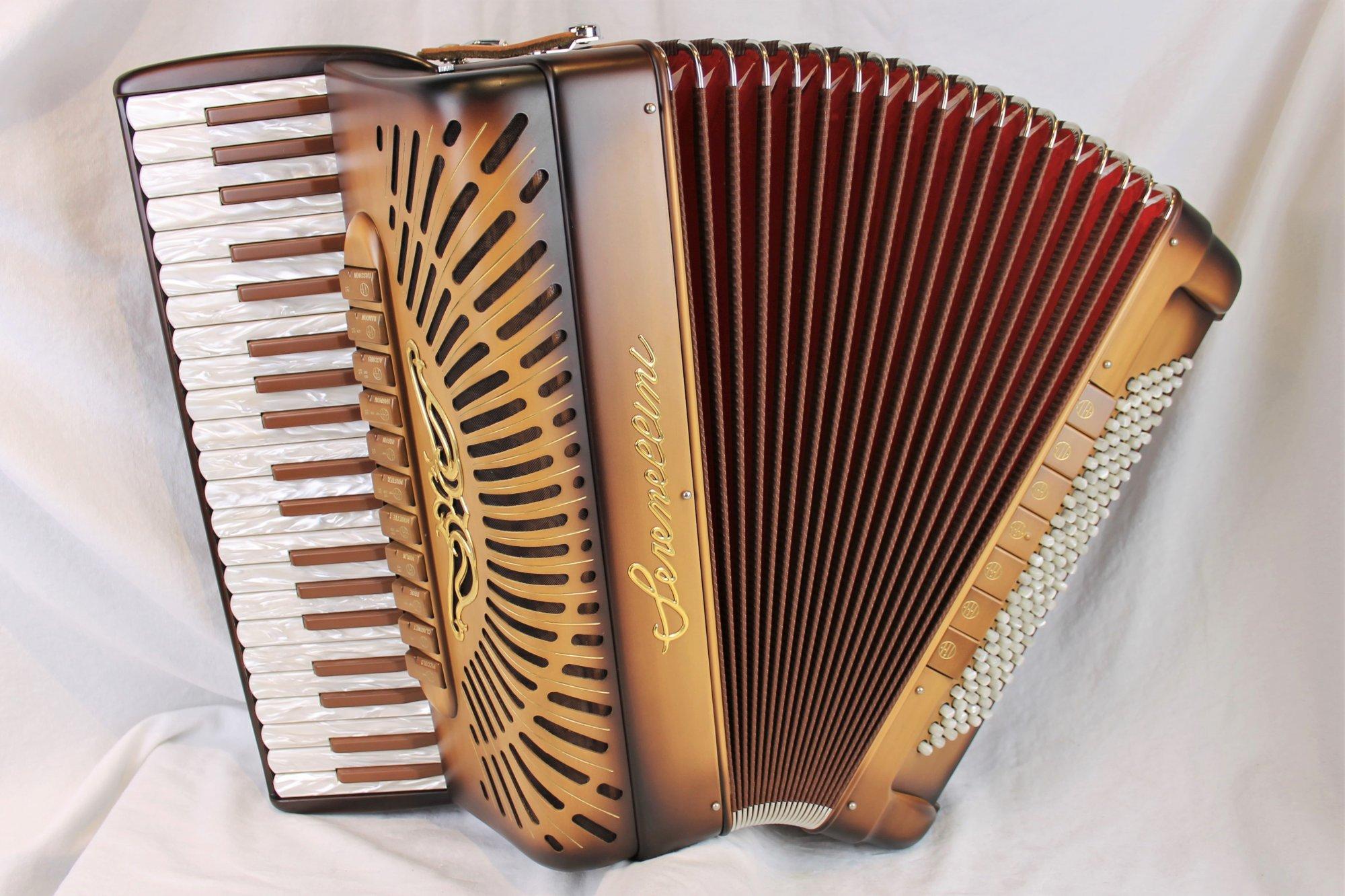 NEW Cappuccino Serenellini Imperator Piano Accordion LMMH 41 120