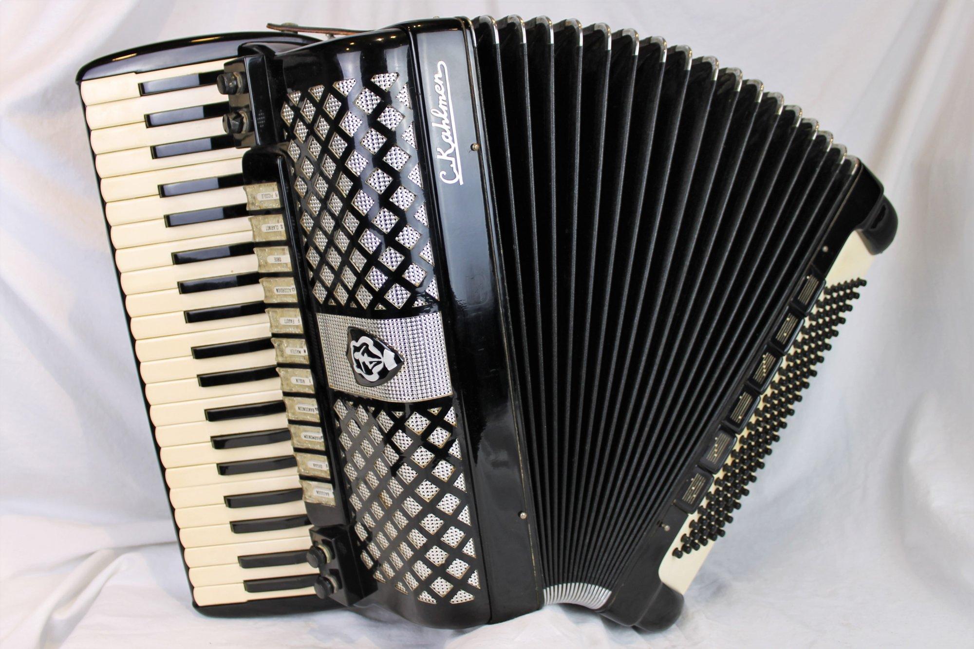 4328 - Black C. Kahlmen Tone Chamber Piano Accordion LMMH 41 120