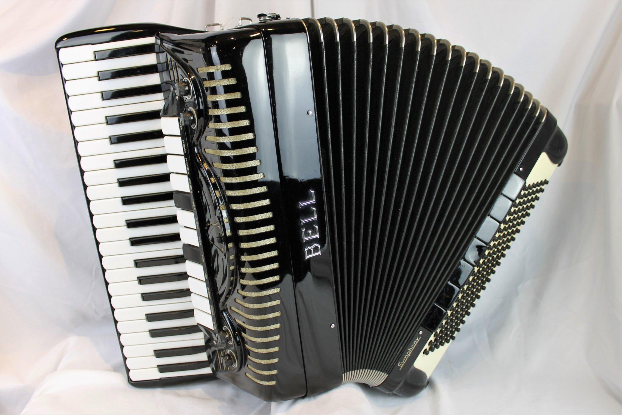 4096 - Black Bell Symphony Piano Accordion LMMH 41 120