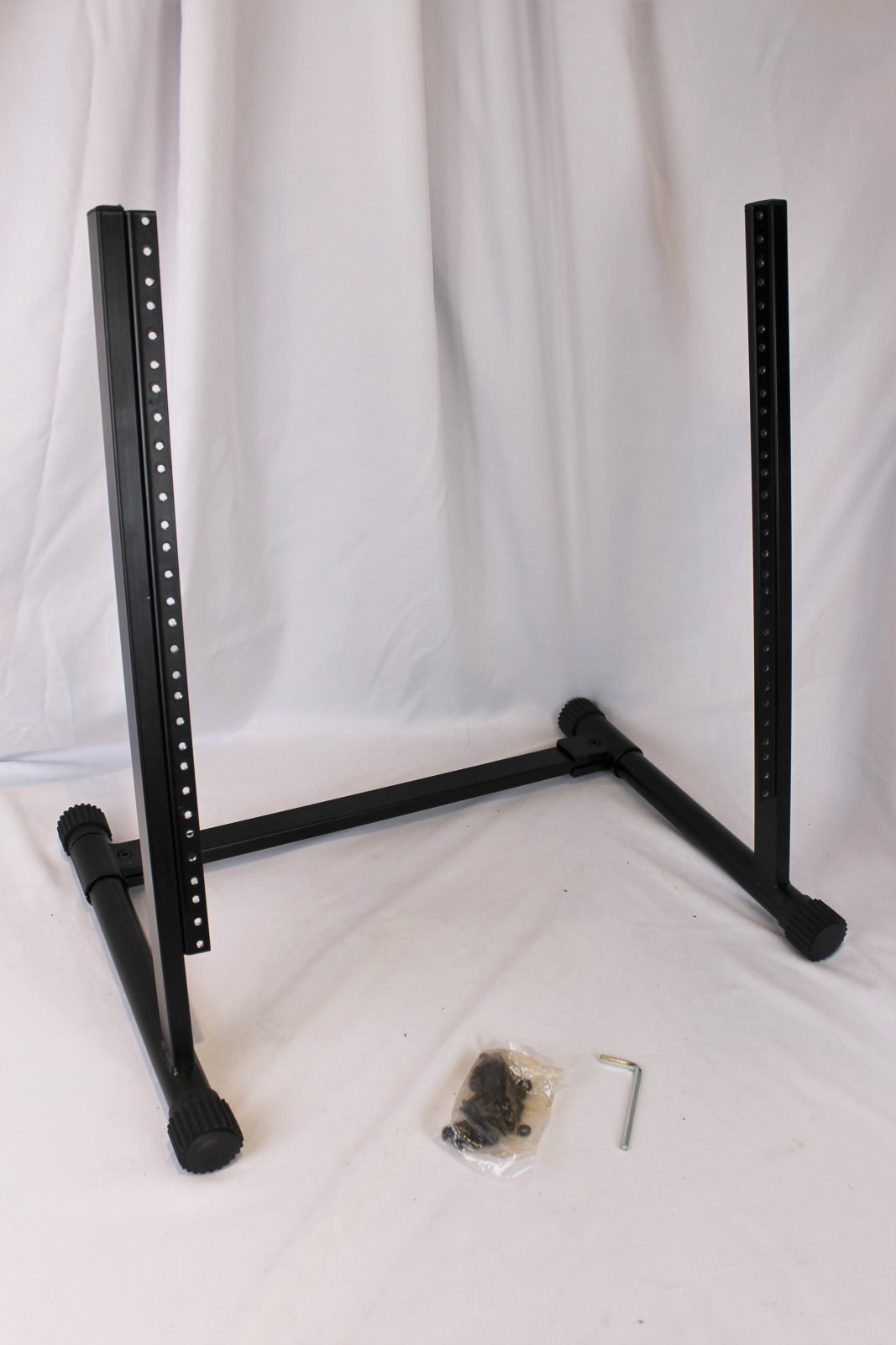 Black Rack Stand for Amplifiers and Audio Equipment