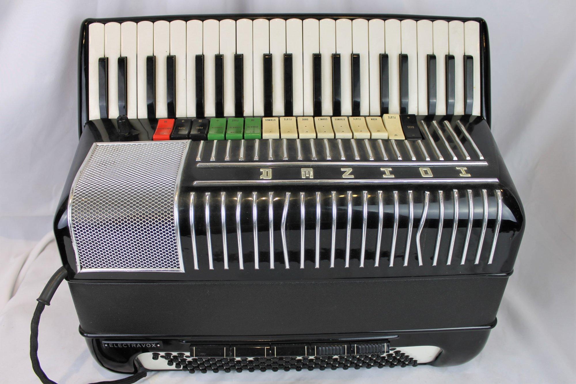 4379 - Black Hohner Electravox Piano Accordion 41 120