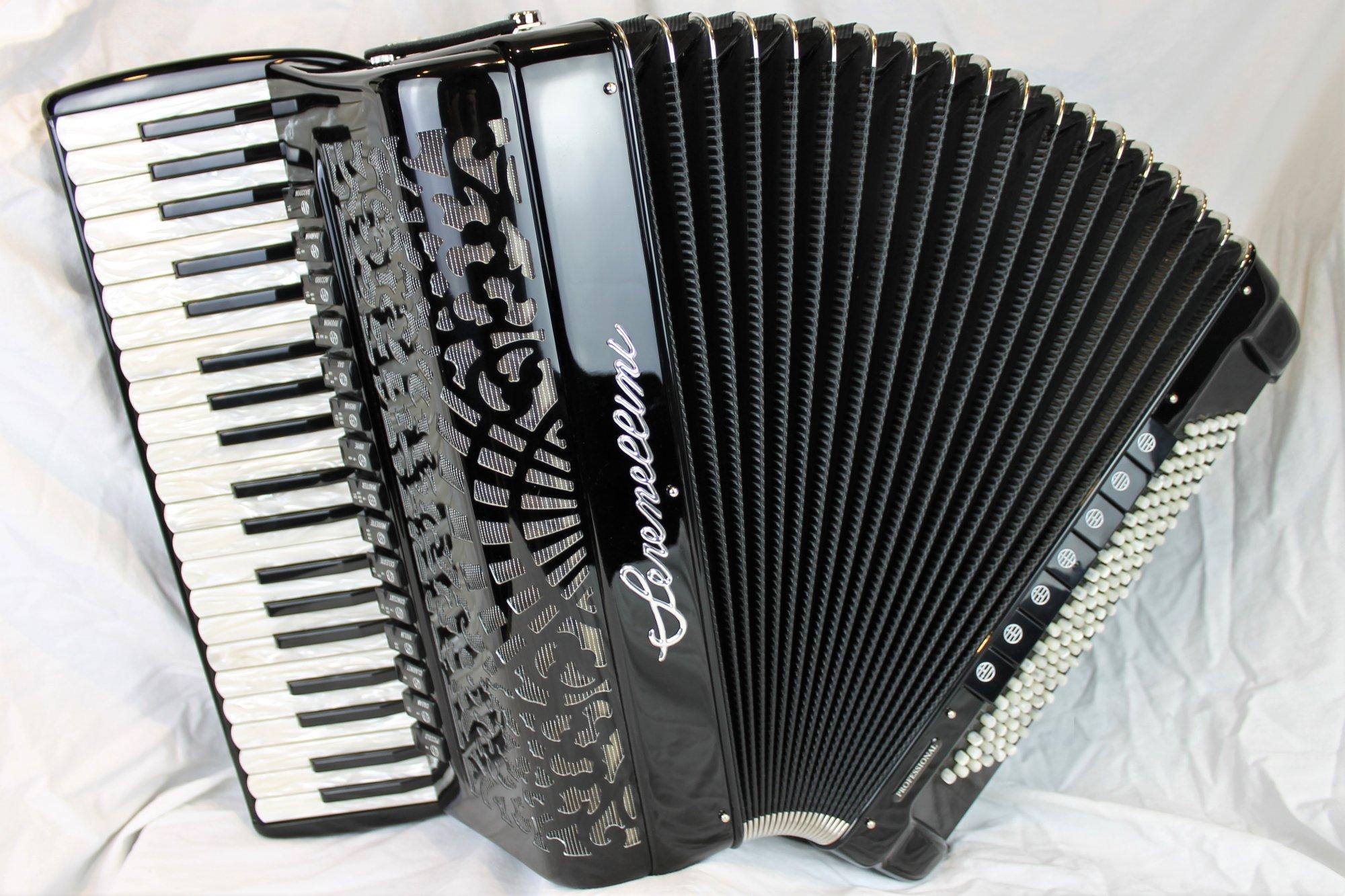 NEW Black Serenellini 415 Piano Accordion LMMMH 41 120