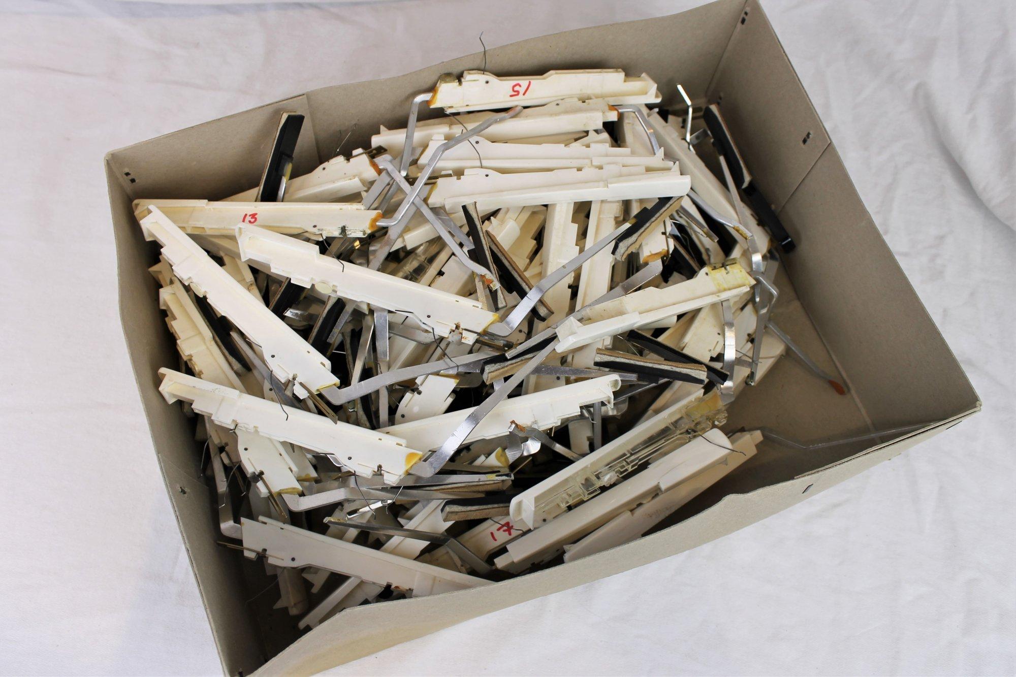 Box of Assorted Hohner Treble Piano Keys