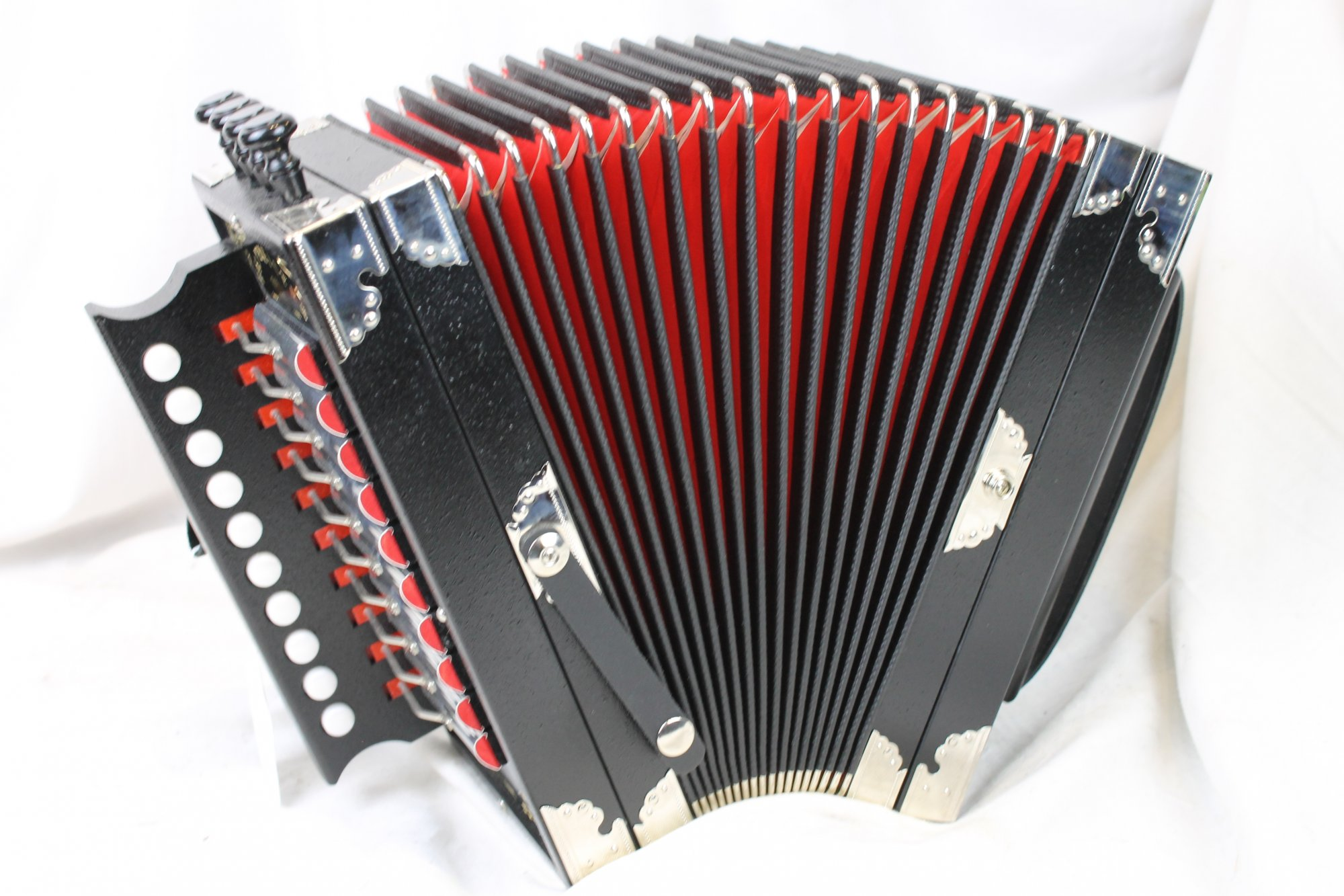 NEW Black Weltmeister Cajun Diatonic Button Accordion D LMMH 10 2
