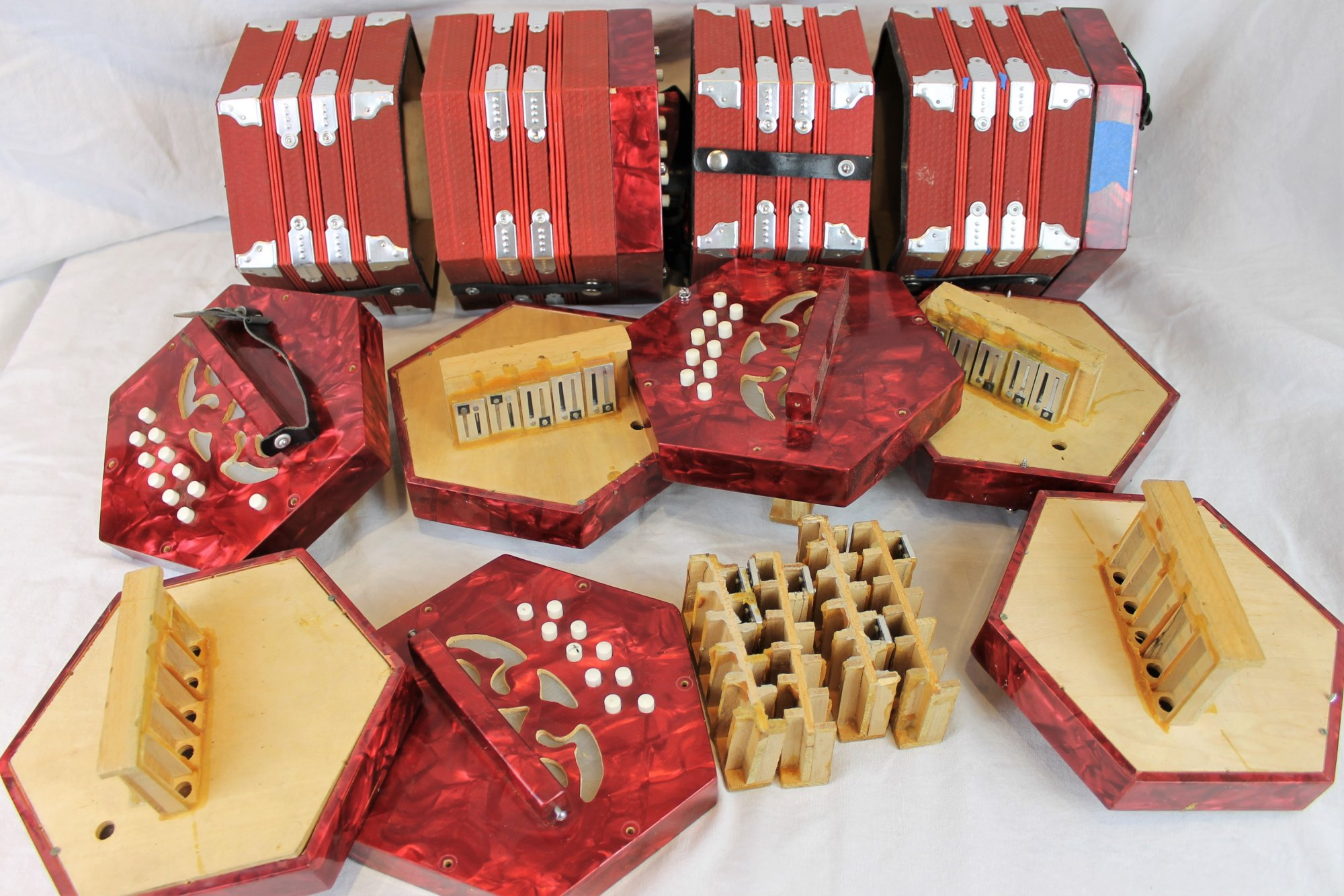 Lot of Concertina Parts - For Parts or Repair
