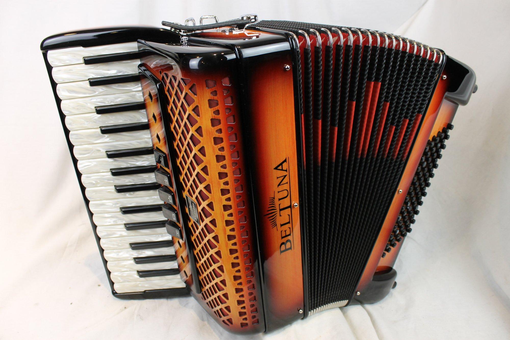NEW Orange Shadow Beltuna Studio III Piano Accordion LMM 30 72