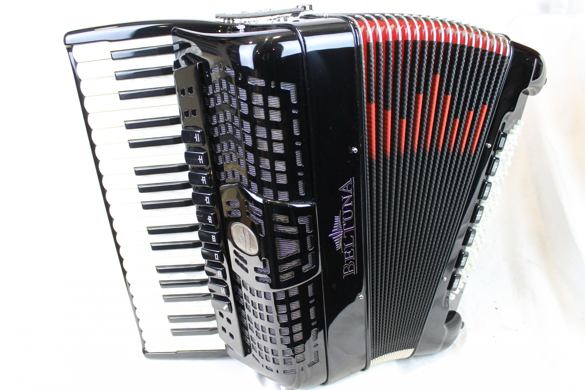 NEW Black Beltuna Prestige IV Piano Accordion LMMM 37 96