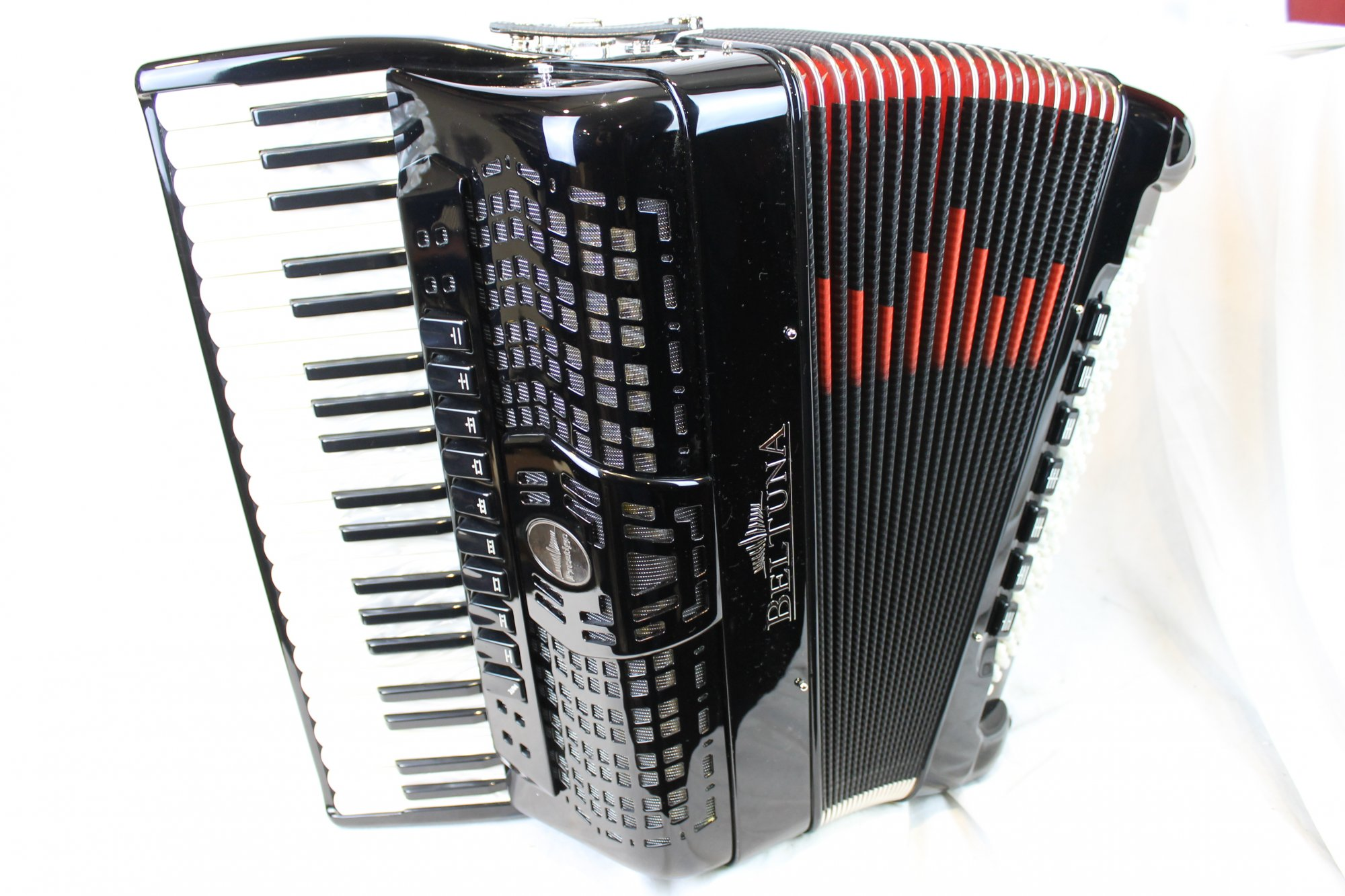 NEW Black Beltuna Prestige IV Piano Accordion LMMM 41 120