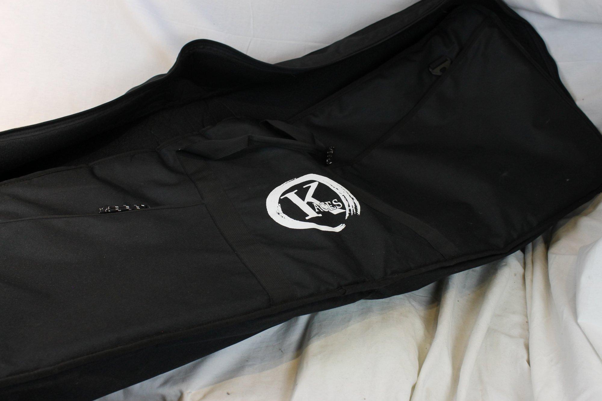 Black Kaces Gig Bag Soft Case for Keyboard 50 x 17.5 x 6  fits 88 Key Keyboard