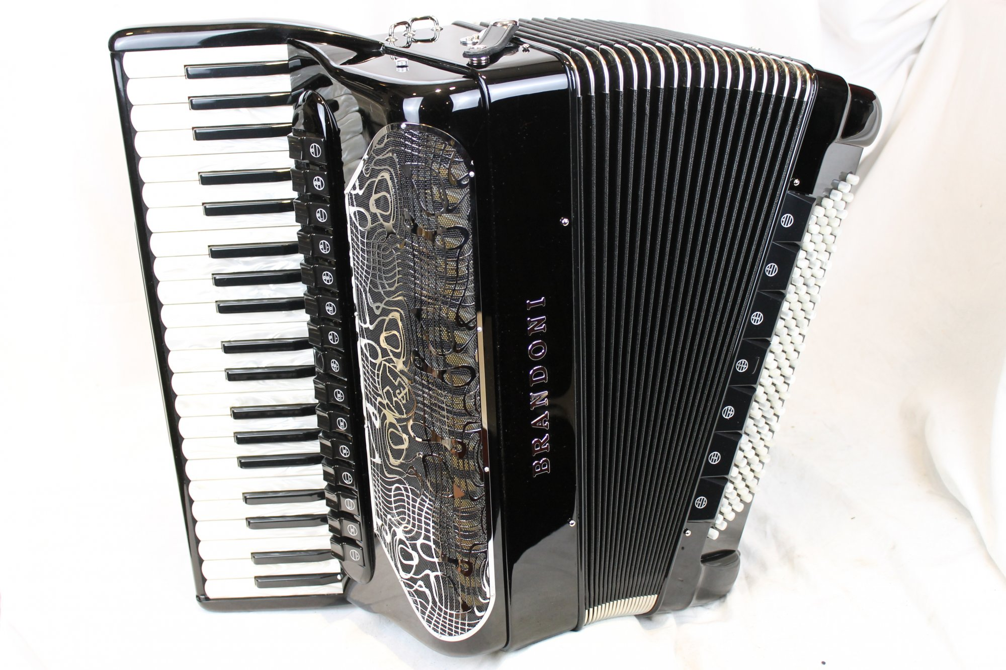 NEW Black Brandoni 148C Infinity Piano Accordion LMMH 41 120