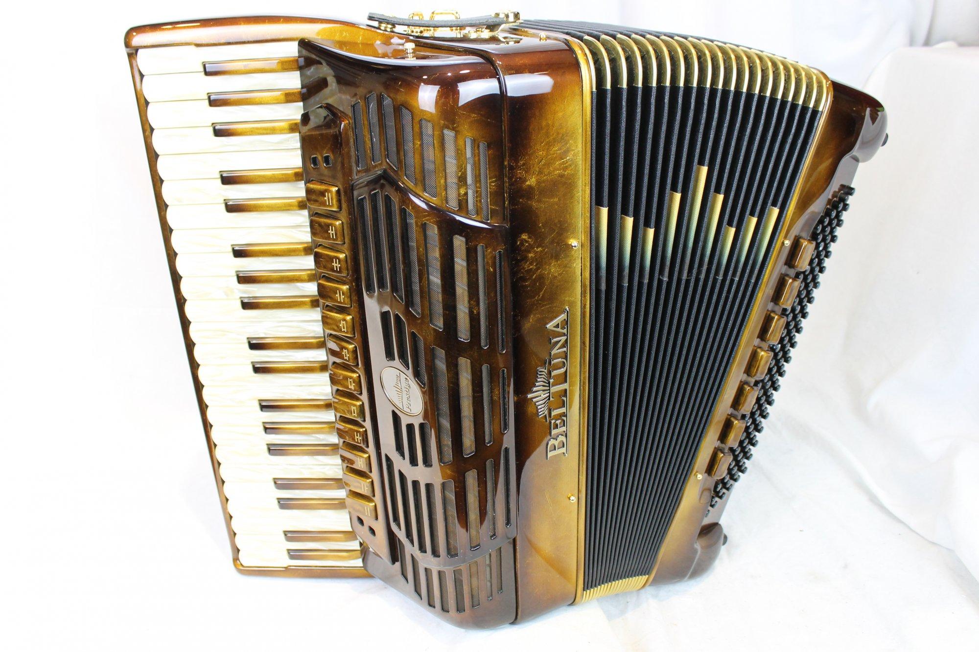 NEW Molten Gold Beltuna Prestige IV Piano Accordion LMMH 41 120