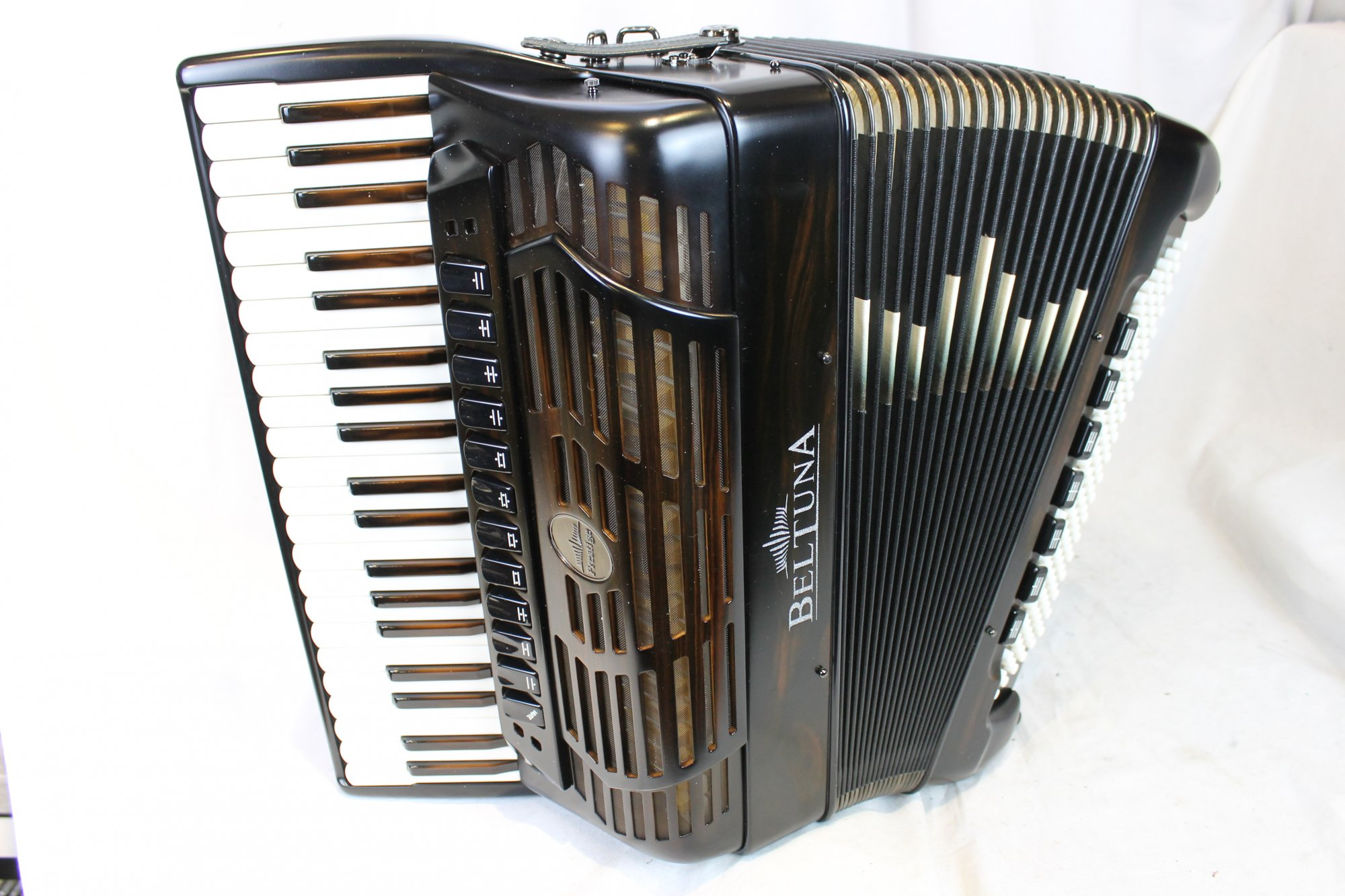 NEW Ebony Beltuna Prestige IV Slender Piano Accordion LMMH 41 120