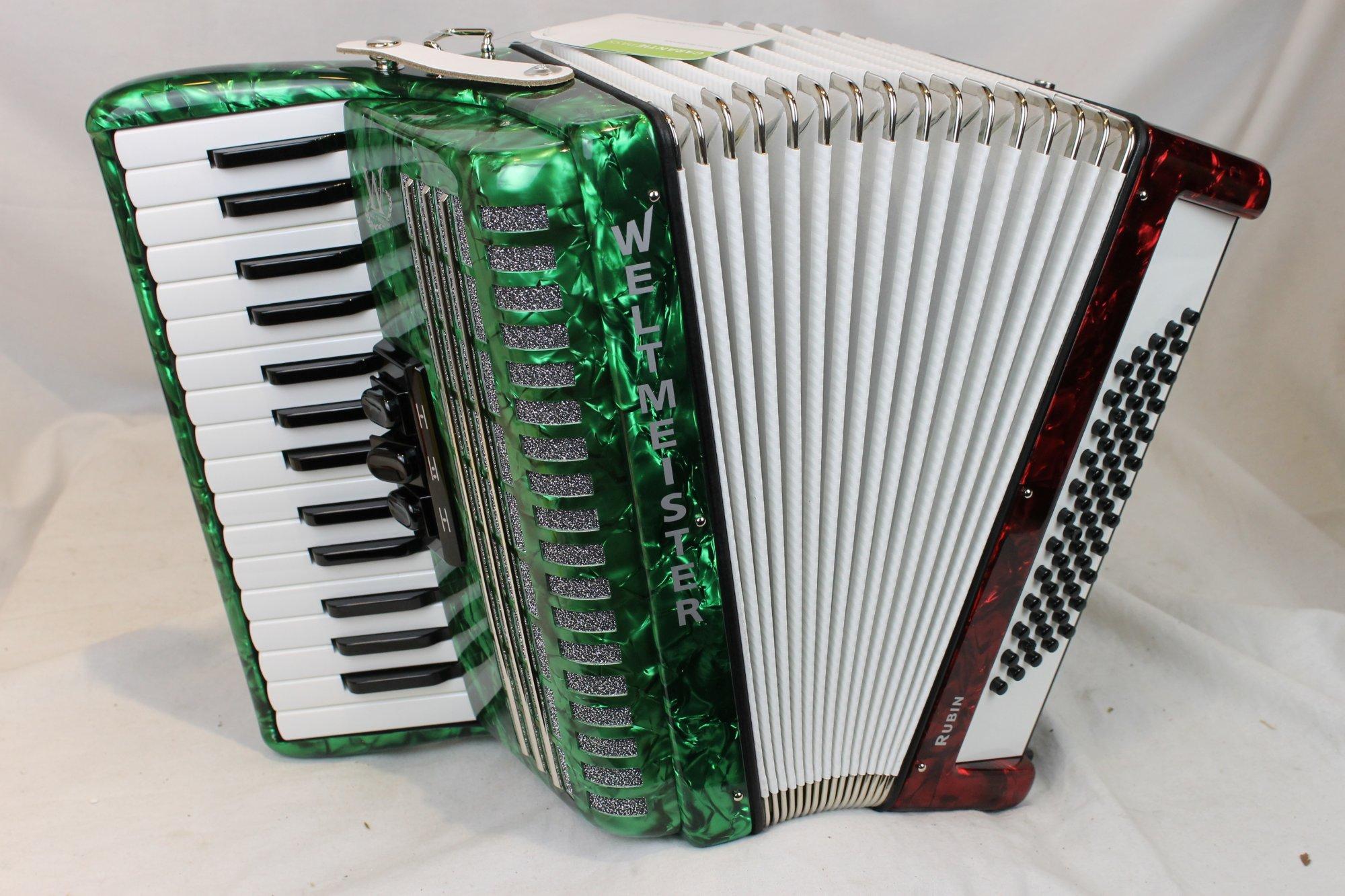 NEW Italian Flag Weltmeister Rubin Piano Accordion MM 30 60