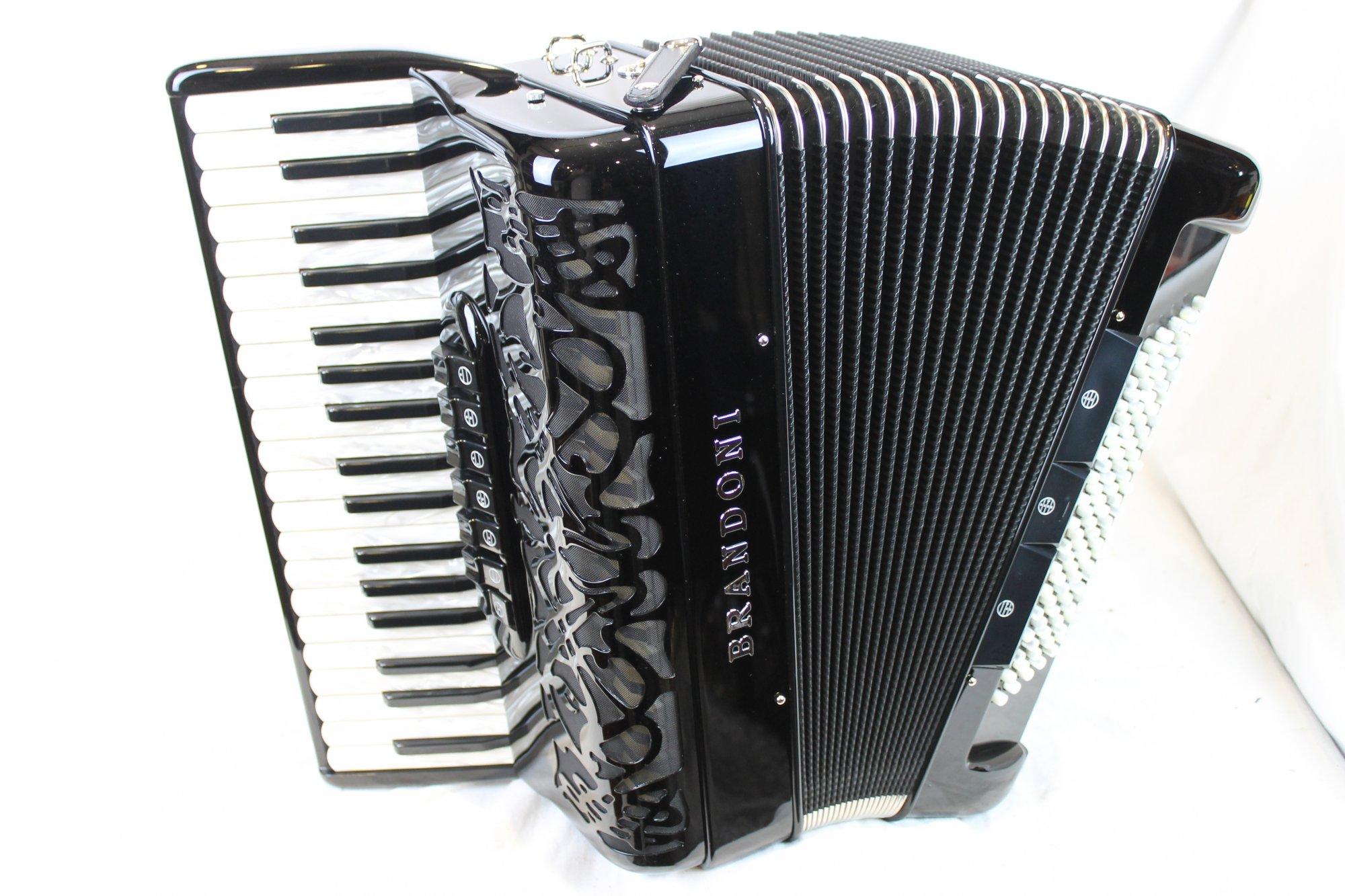 NEW Black Brandoni 75 Liberty Piano Accordion LMM 37 96