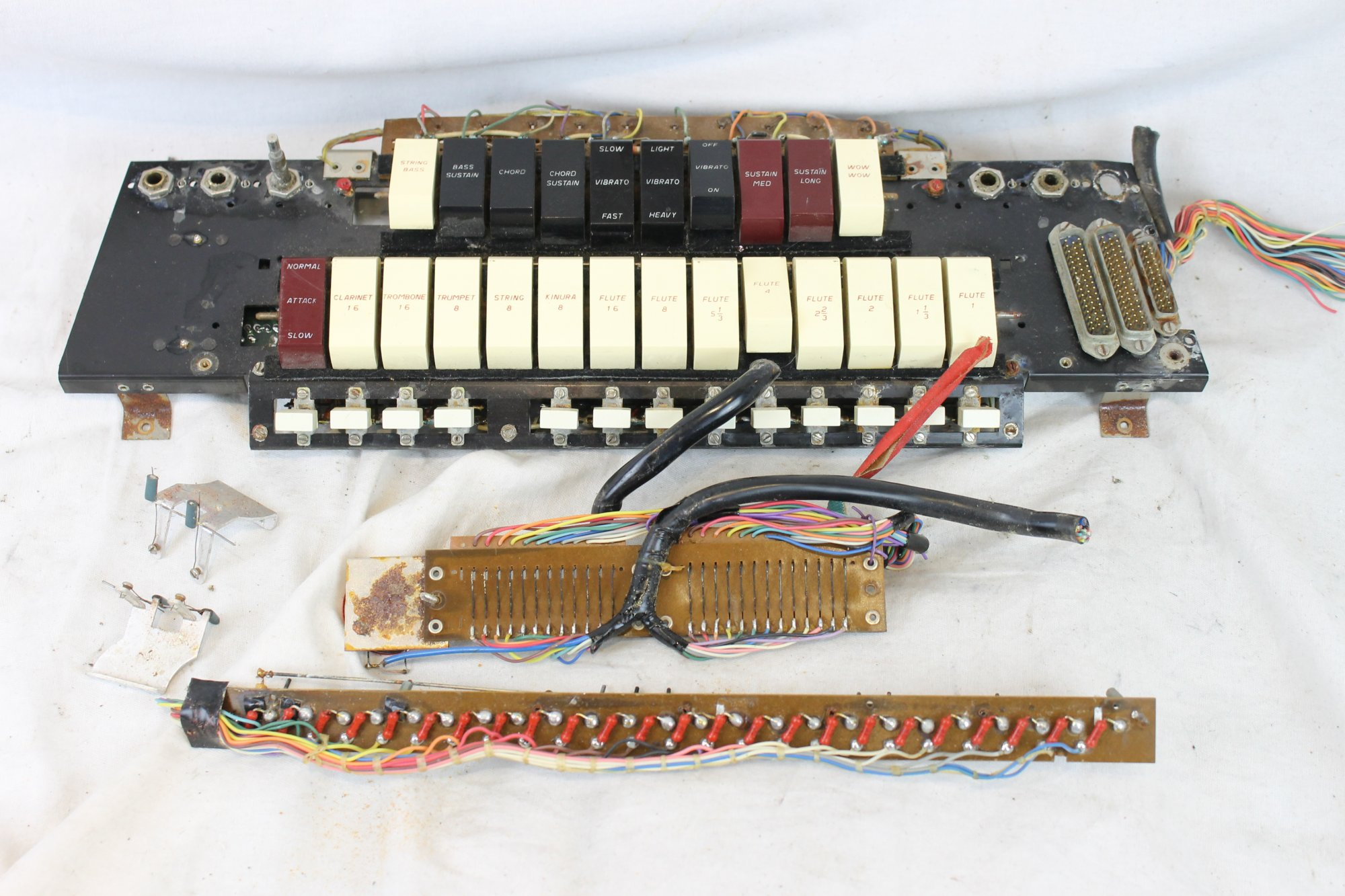 Cordovox Super V Model CG-V-M Accordion Parts - Electronic Components and Dynamic Micophones