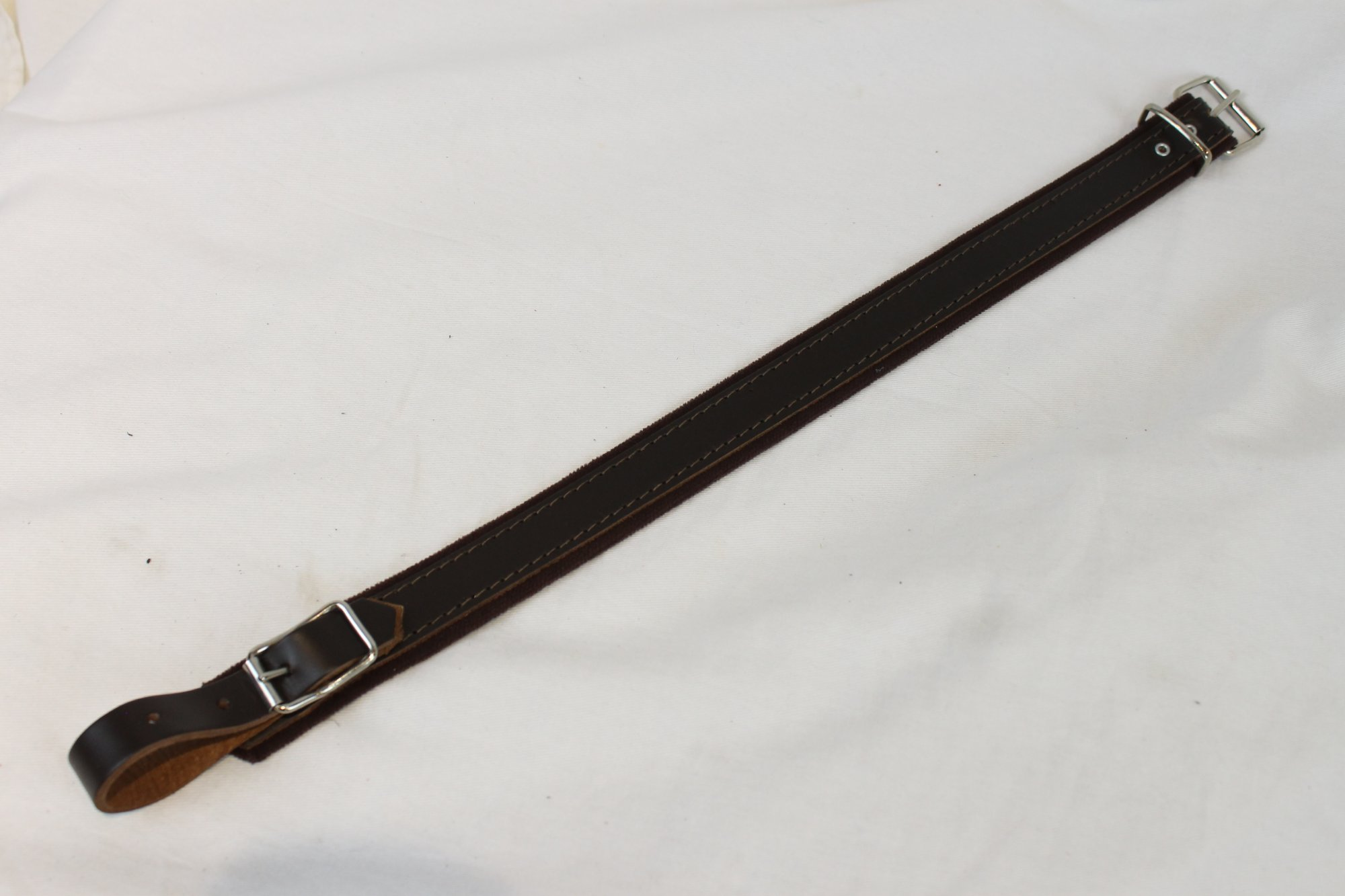 NEW Brown Fuselli Leather Shoulder Strap Extender Width (2.5cm / 1in) Length (39.5cm / 15.5in)